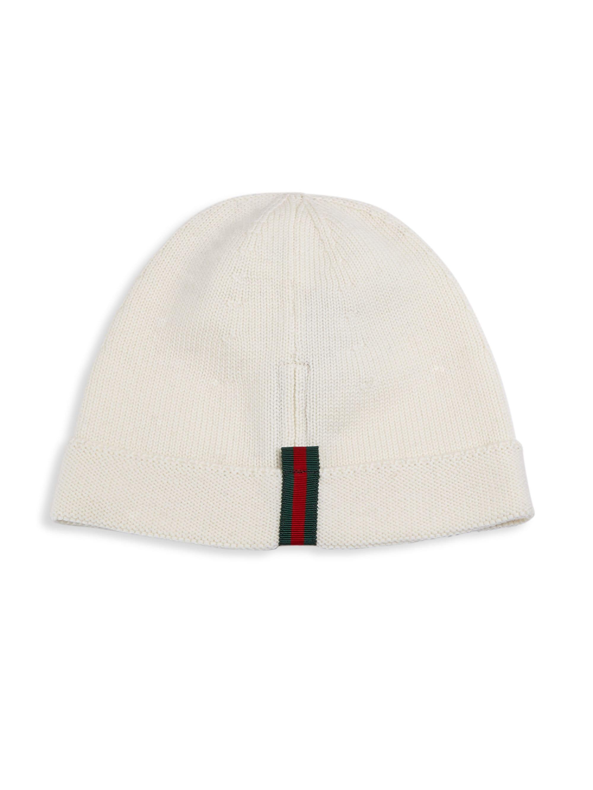d2cb687580d30 Gucci Striped Beanie in White for Men - Lyst