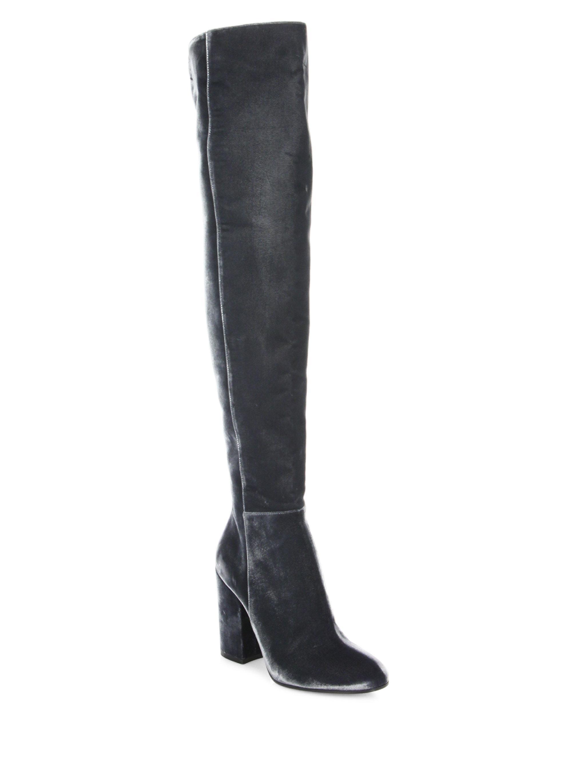 Gianvito RossiVelvet Over-The-Knee Block Heel Boots gIOG8