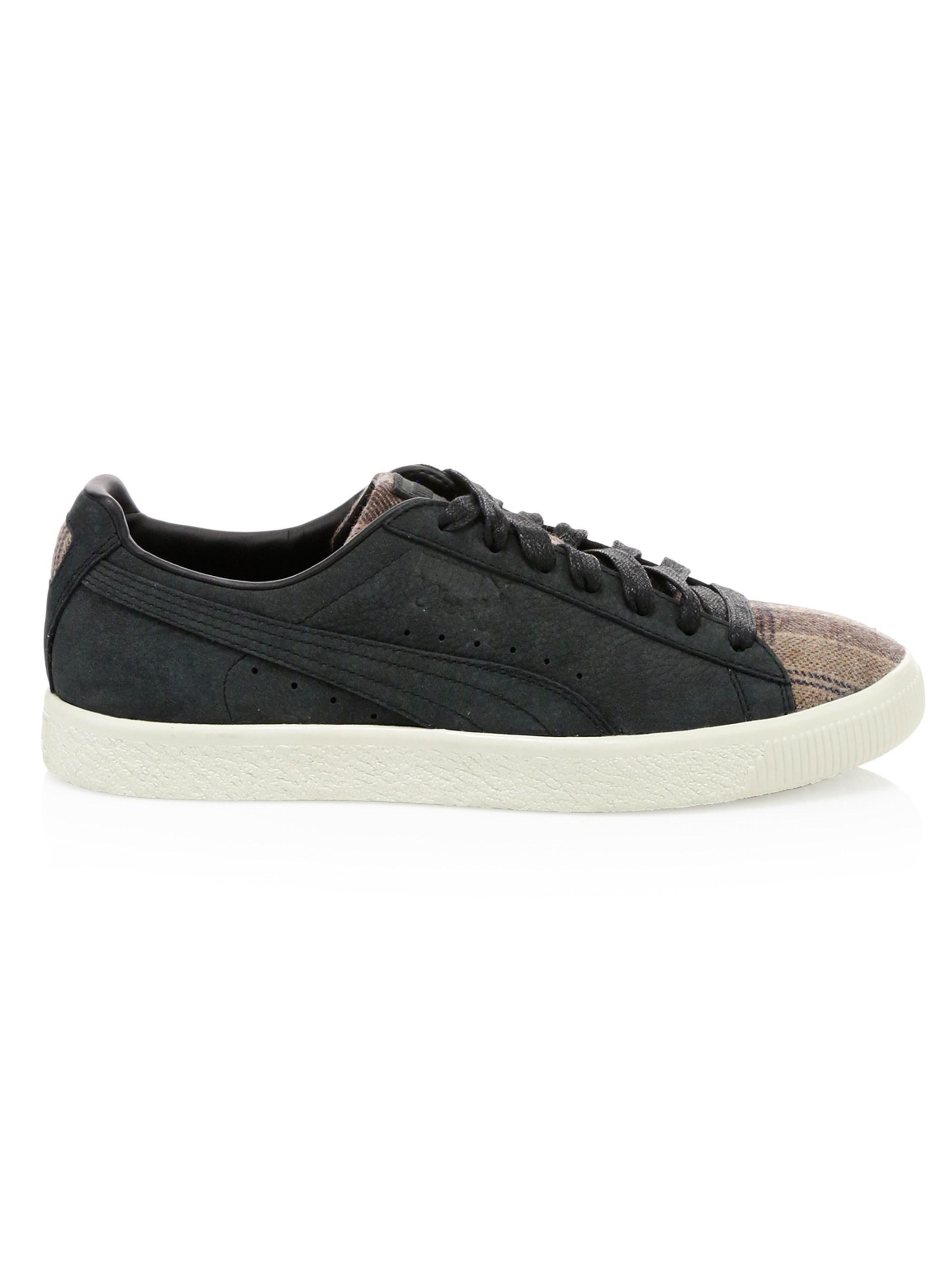 12e3a2f1f1d PUMA Men s Clyde Plaid   Suede Sneakers - Black - Size 13 in Black ...