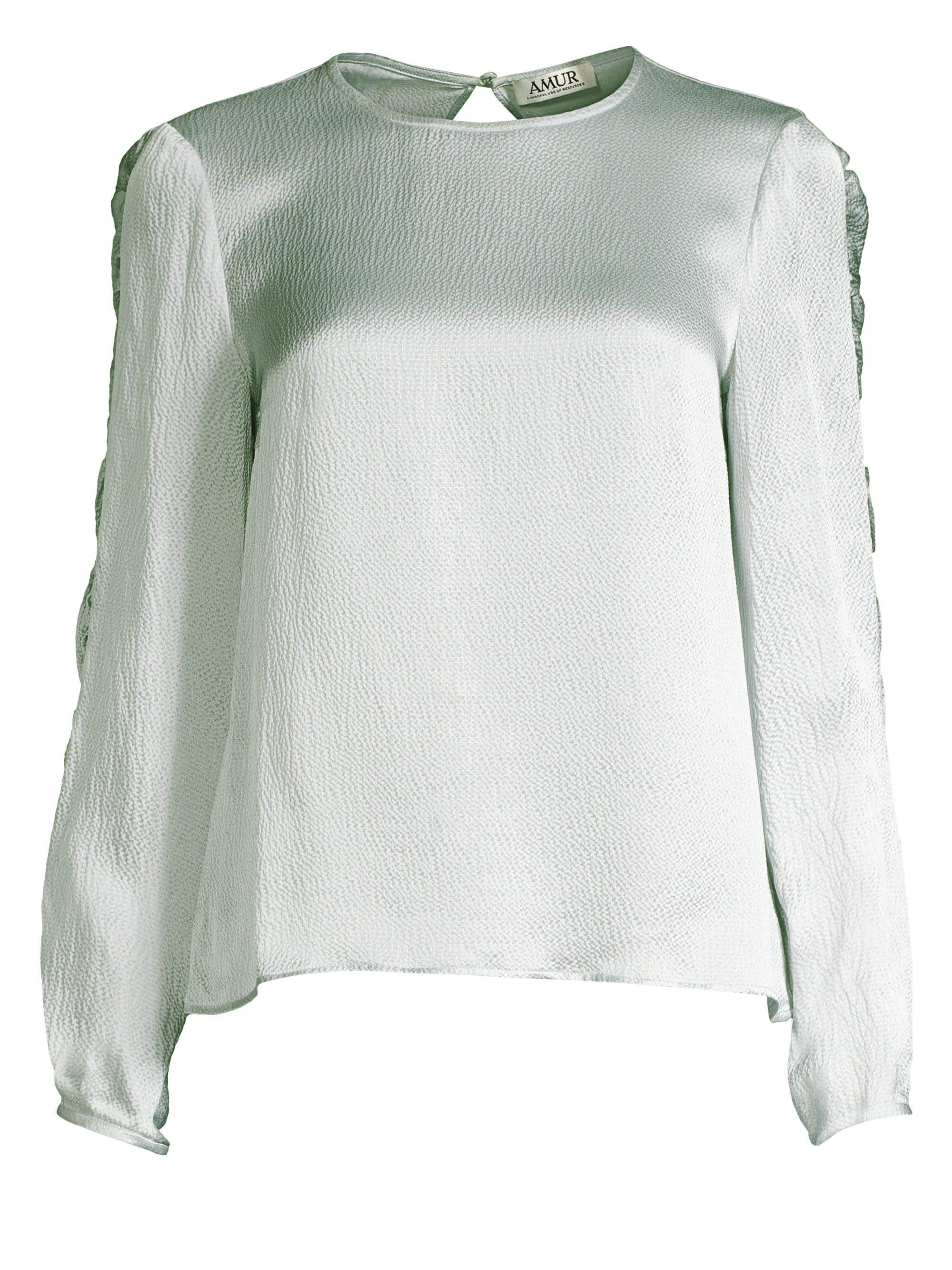 079c6b83ec1e1 AMUR - Multicolor Alena Silk Top - Lyst. View fullscreen