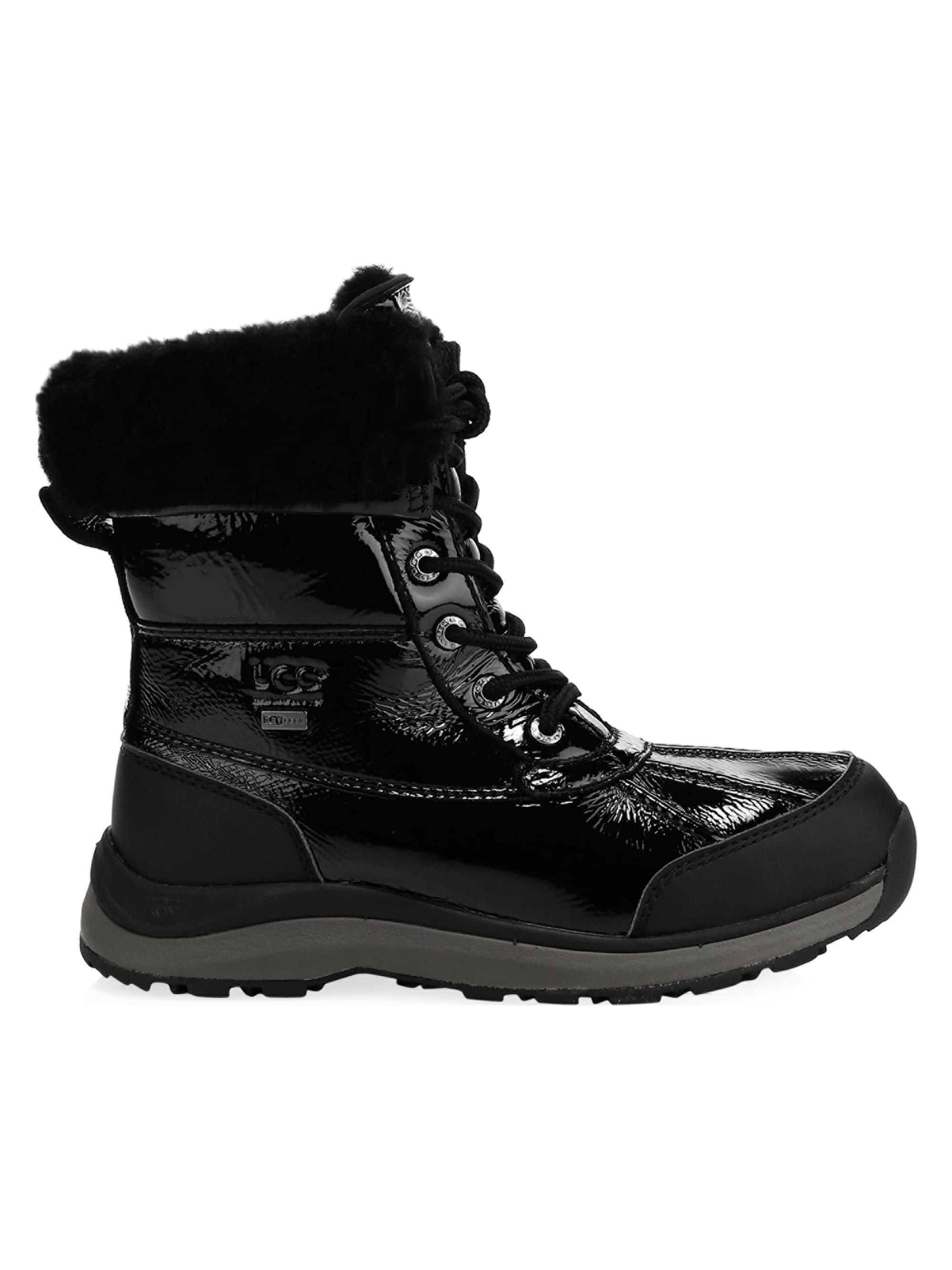 a6844c07e44 Ugg - Black Pure Patent Adirondack Boots - Lyst