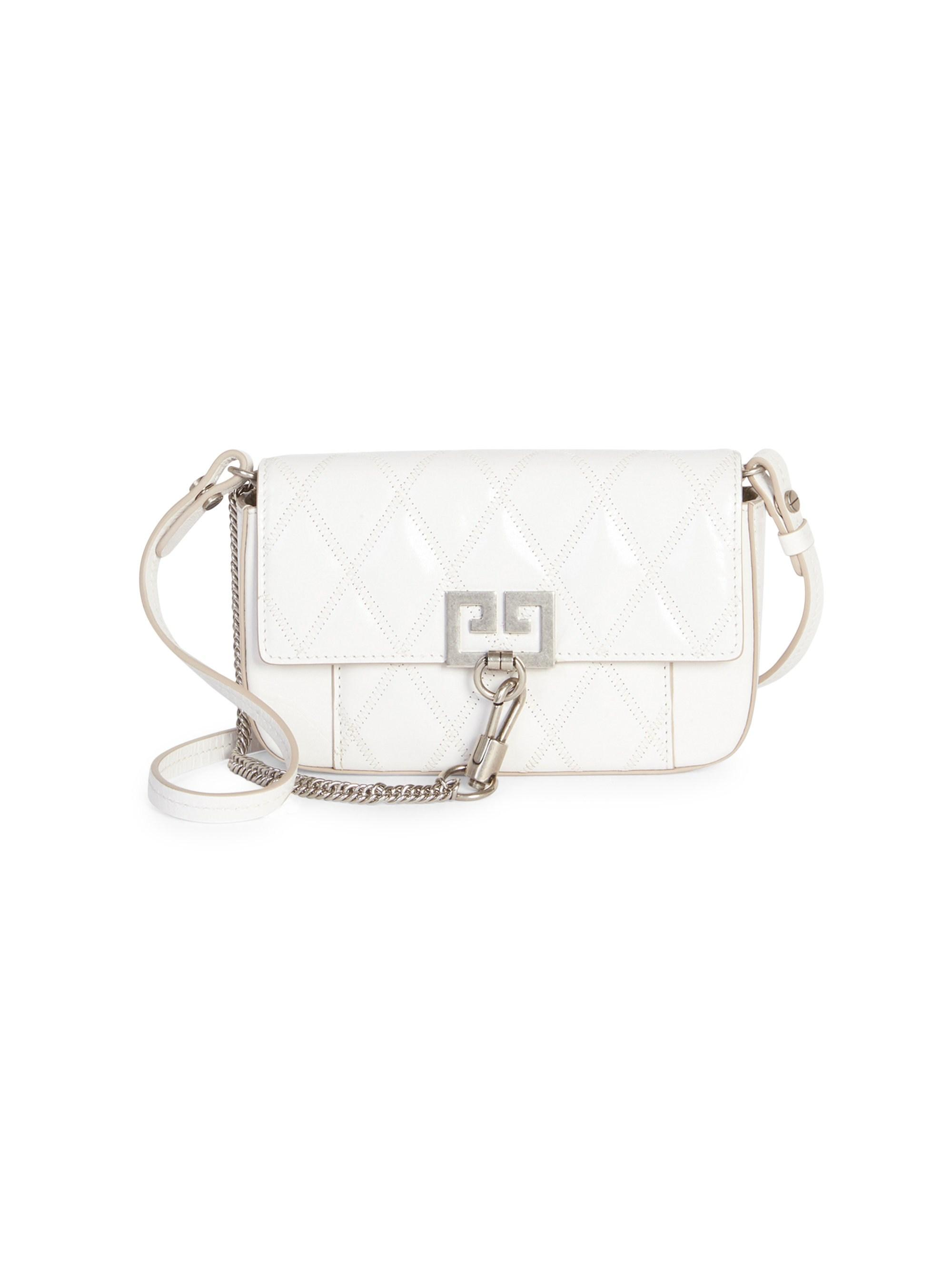 f455e6e5c920 Lyst - Givenchy Pocket Mini Leather Crossbody Bag in White