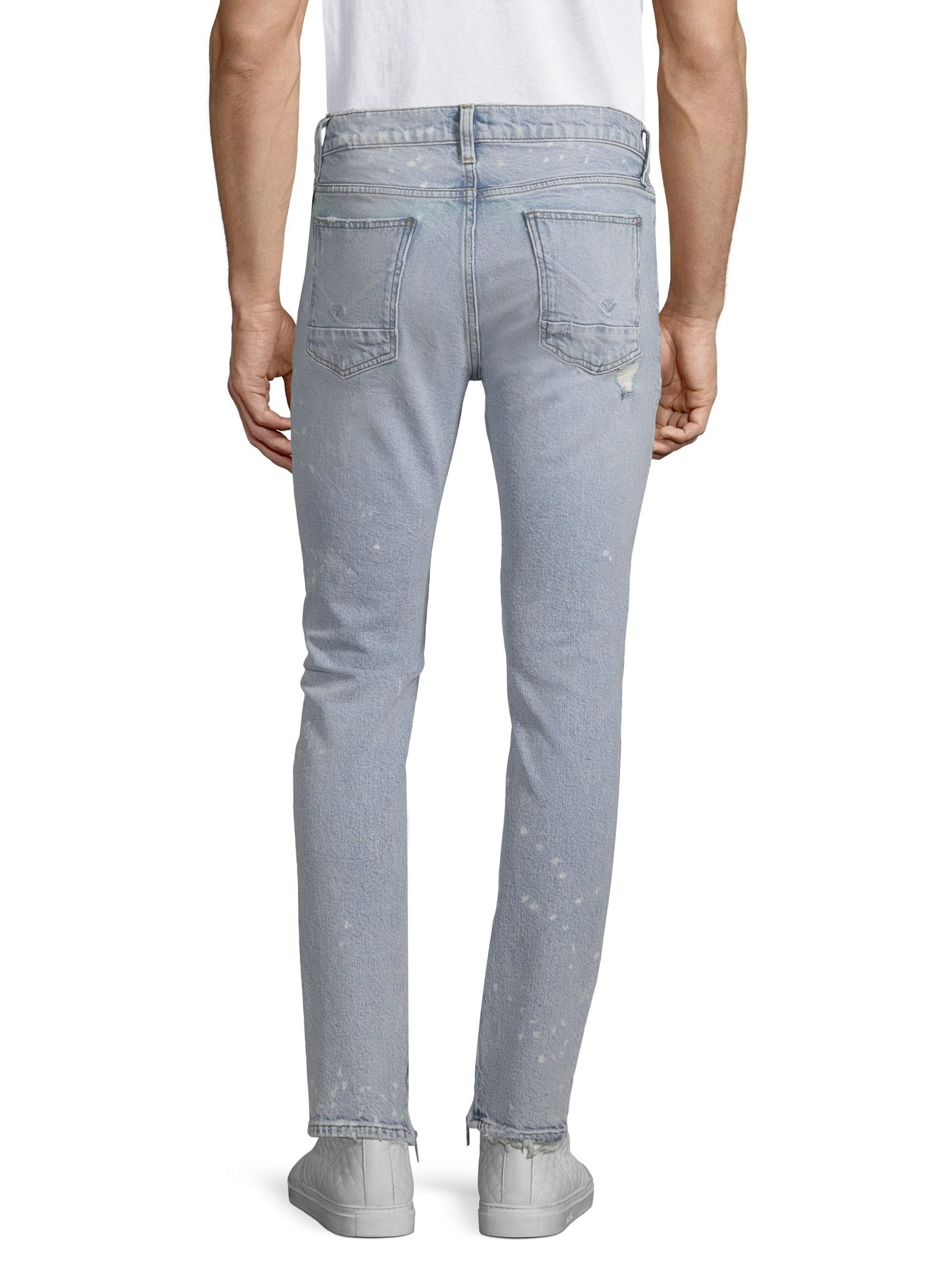 5ae00321288 Hudson - Blue Men's Vaughn Skinny Cotton Ankle Zip Jeans - Echo Park - Size  34. View fullscreen