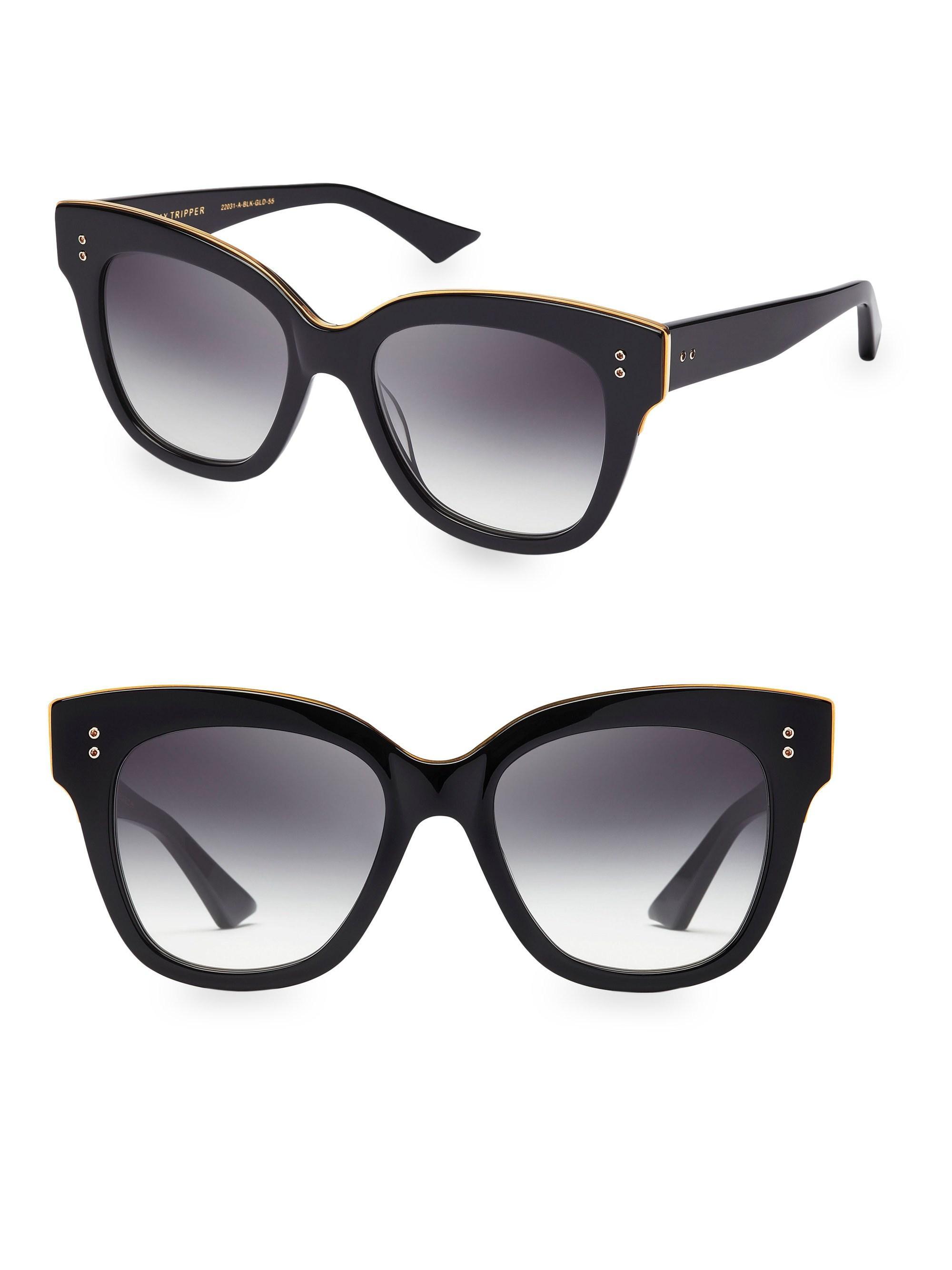 132567ff377a Lyst - Dita Eyewear Day Tripper 55mm Oversized Sunglasses in Black