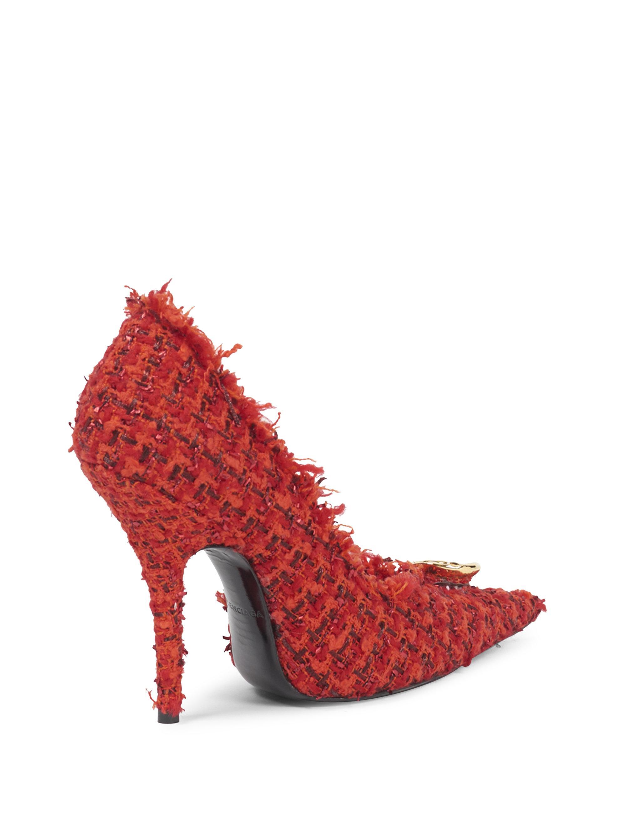 Balenciaga Stiletto Heel Tweed Pumps q7cjgefdt
