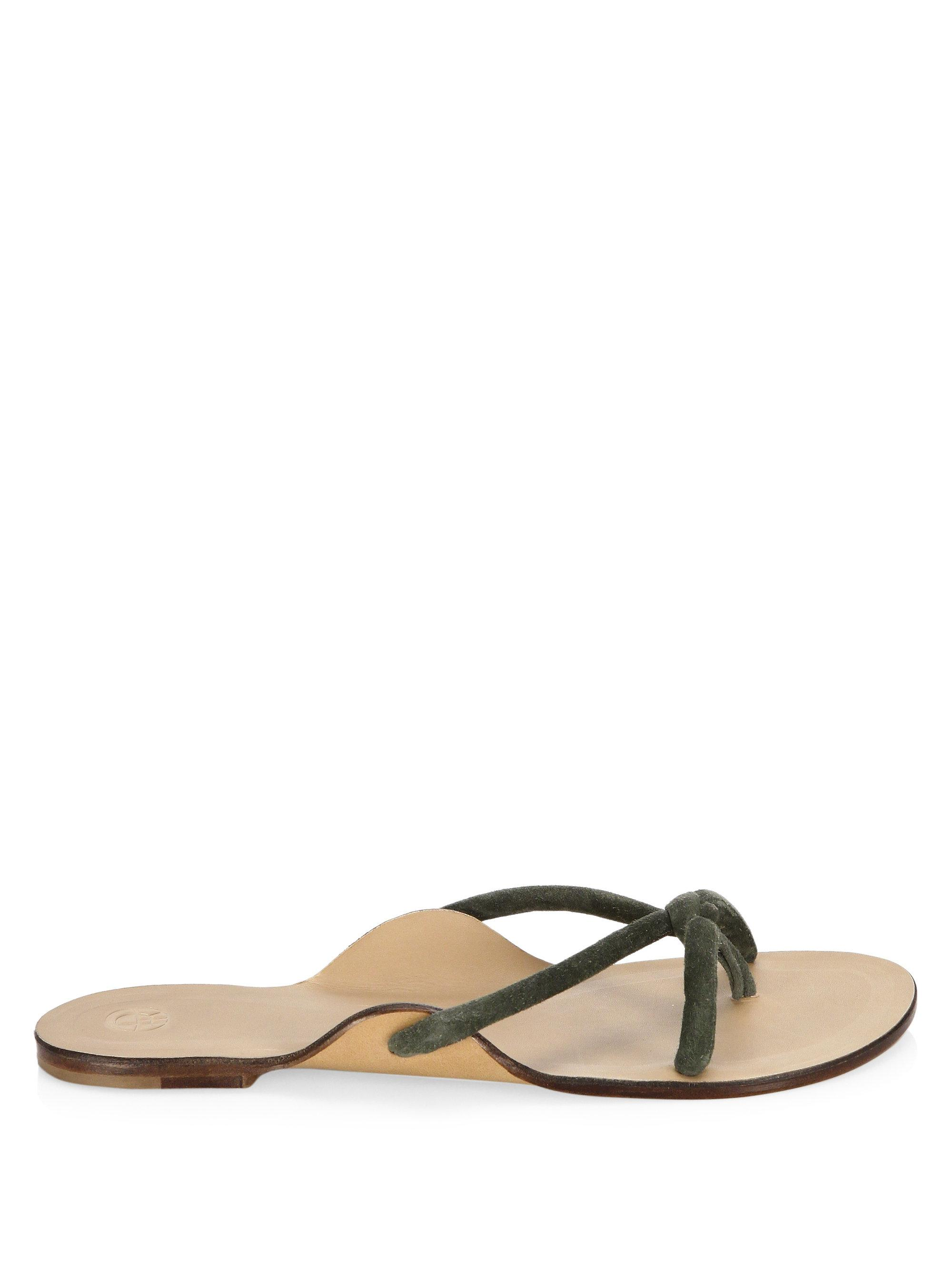 The Row Hawaii Knotted Flat Sandals j6ige