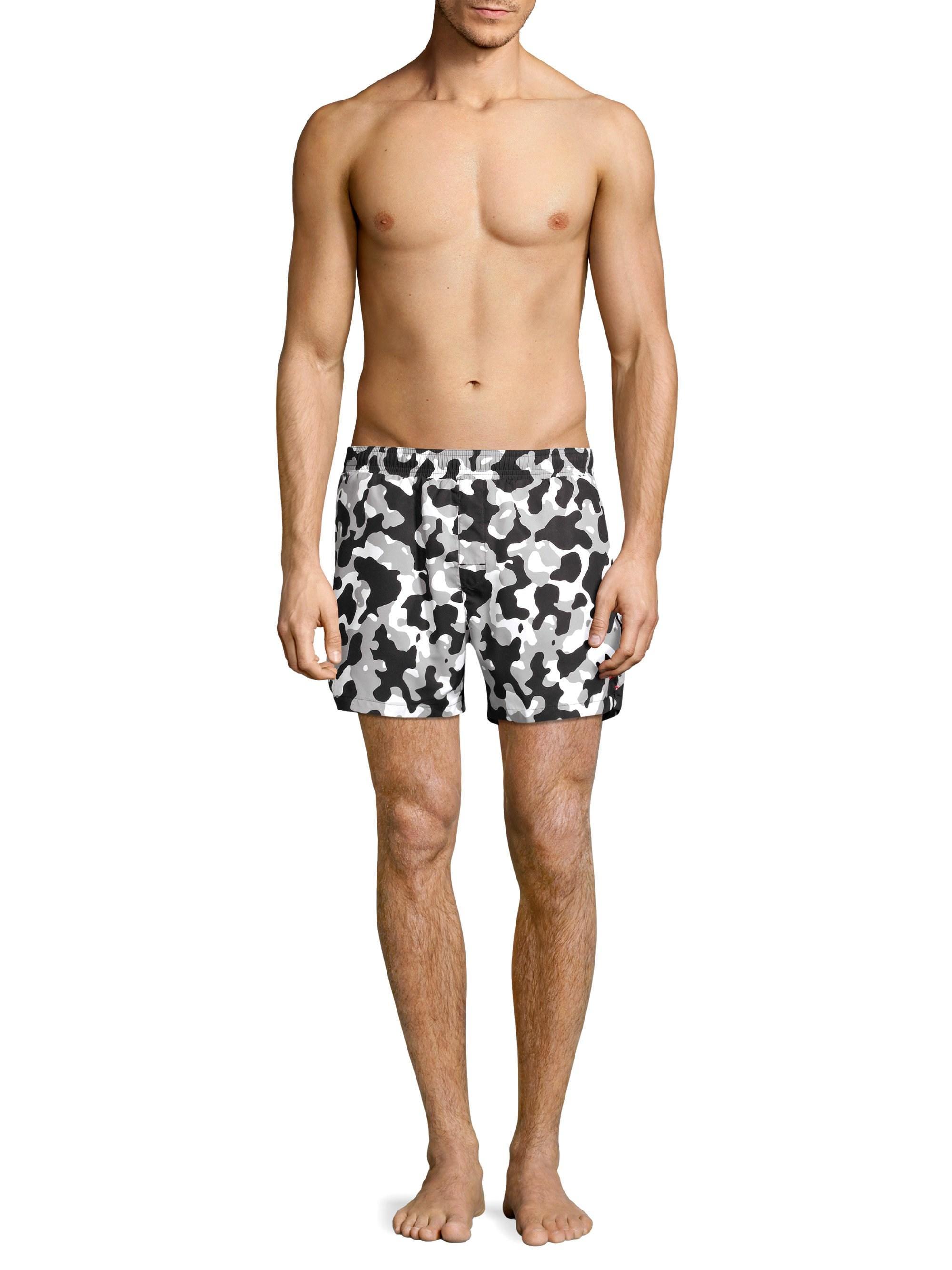 3200b4be33 HUGO Men's Grenada Ice Camo Swim Trunks - Grey in Gray for Men - Lyst