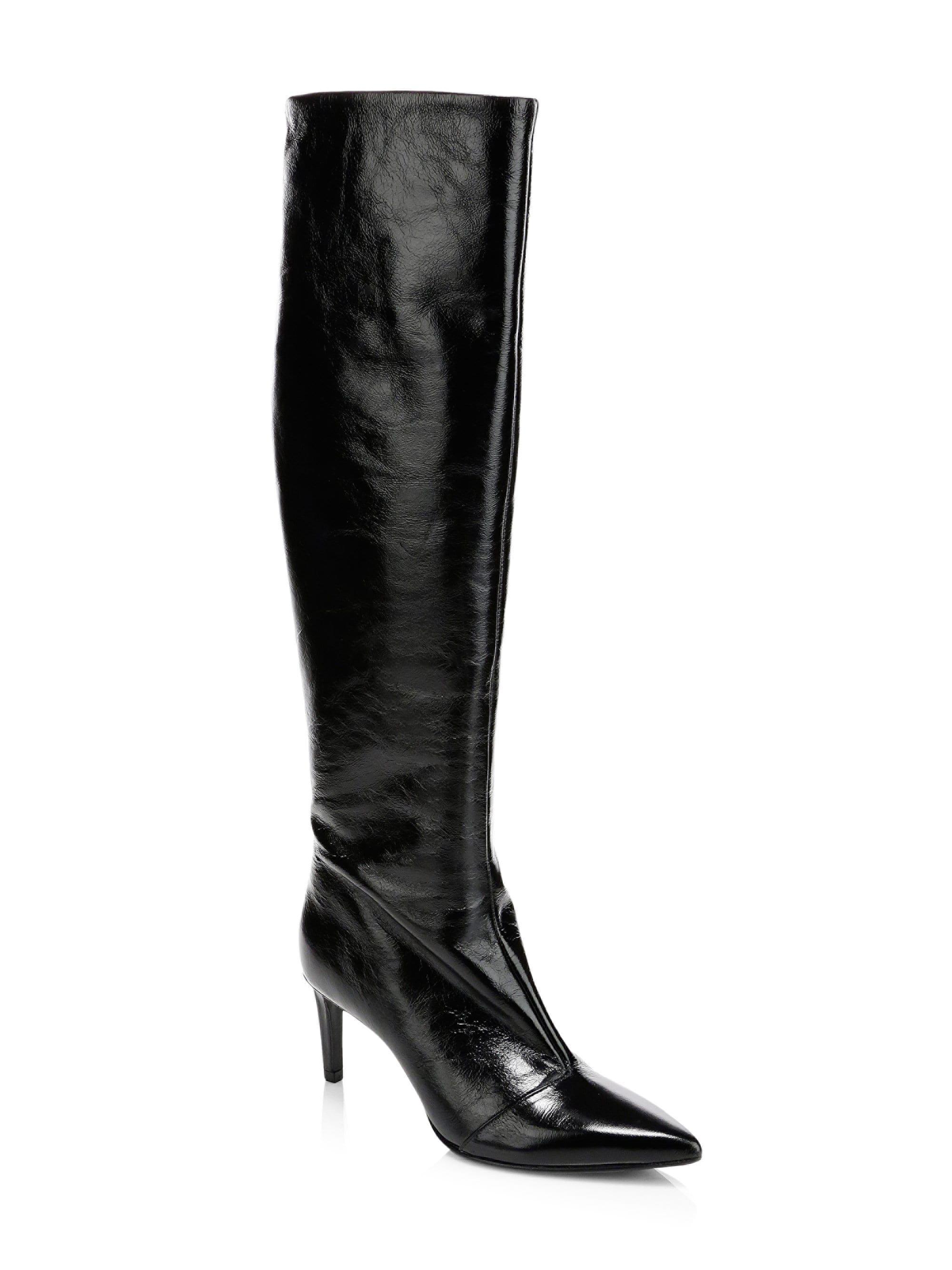 b5527b3a58d7 Lyst - Rag   Bone Beha Knee-high Leather Boots in Black