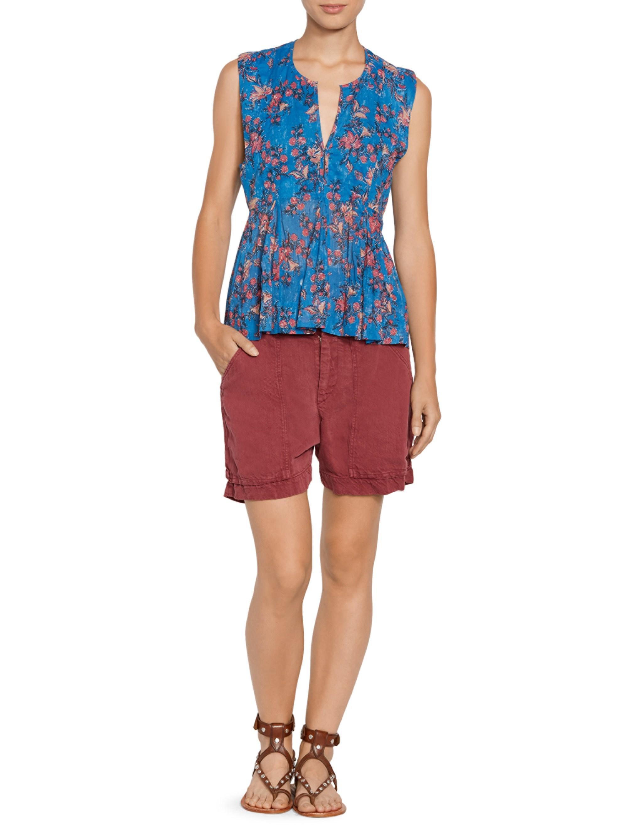4420f8eae1 Étoile Isabel Marant Women's Lainey Linen-blend Cargo Shorts ...