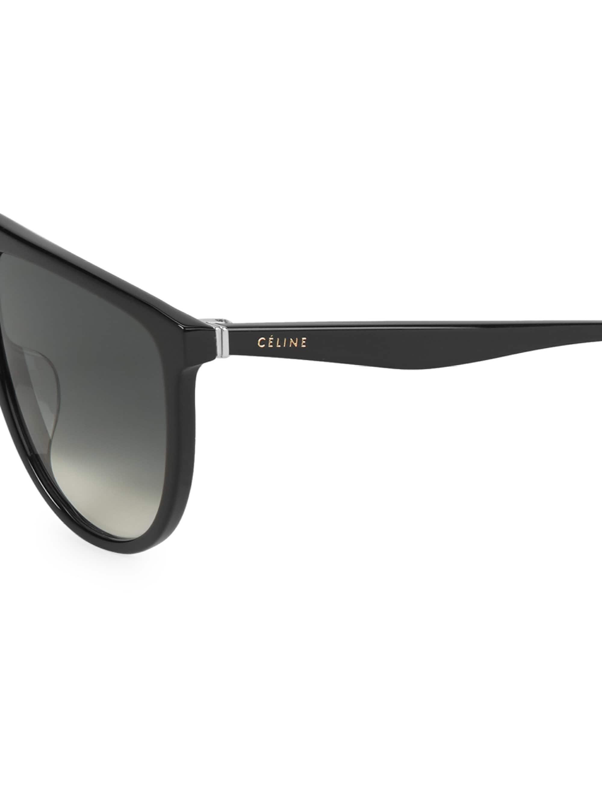 1af034e589 ... CELINE Source · C line 62mm Flat Top Pilot Sunglasses in Black for Men  Lyst