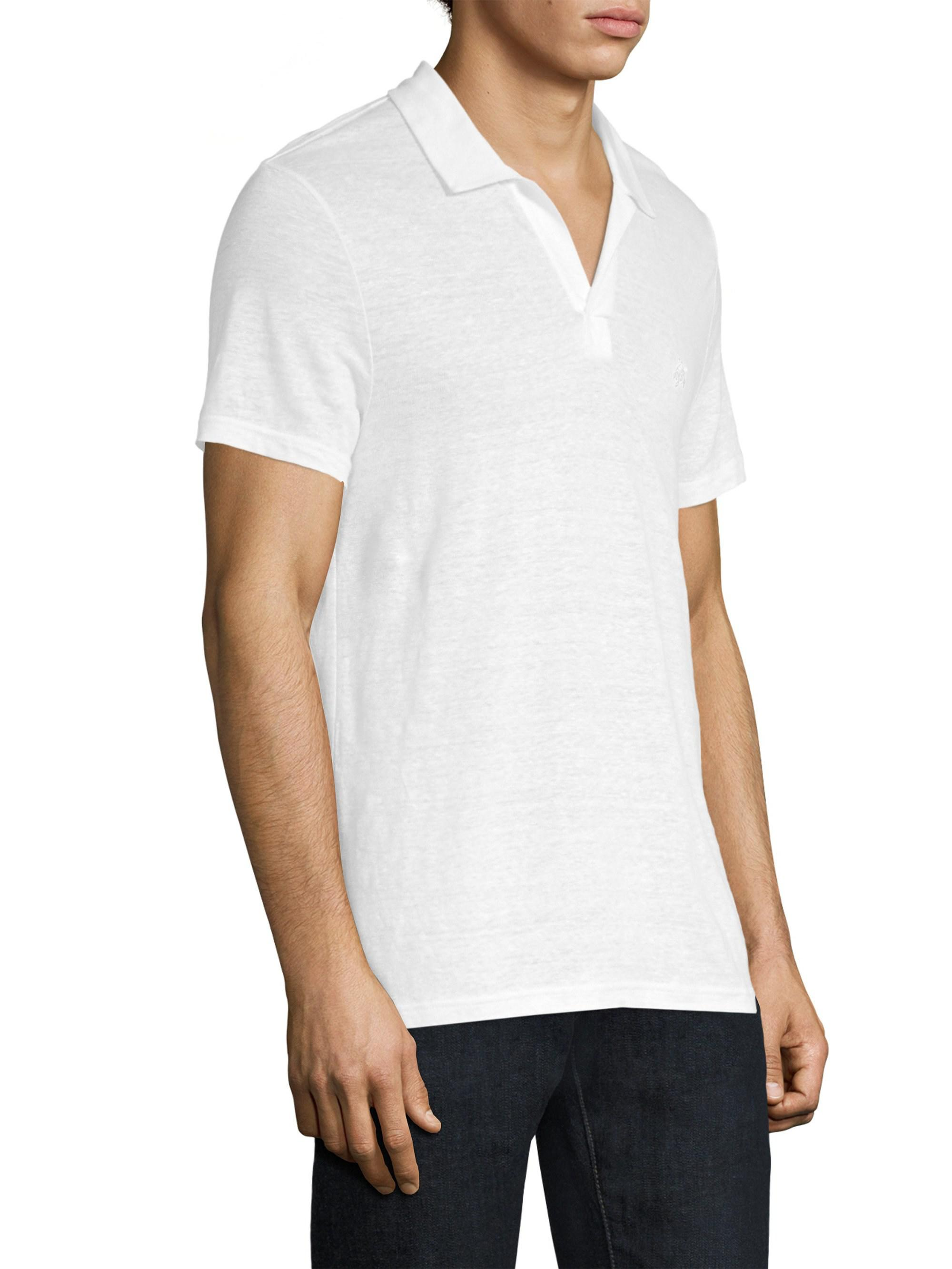 Lyst Vilebrequin Pyramid Linen Polo Shirt In White For Men