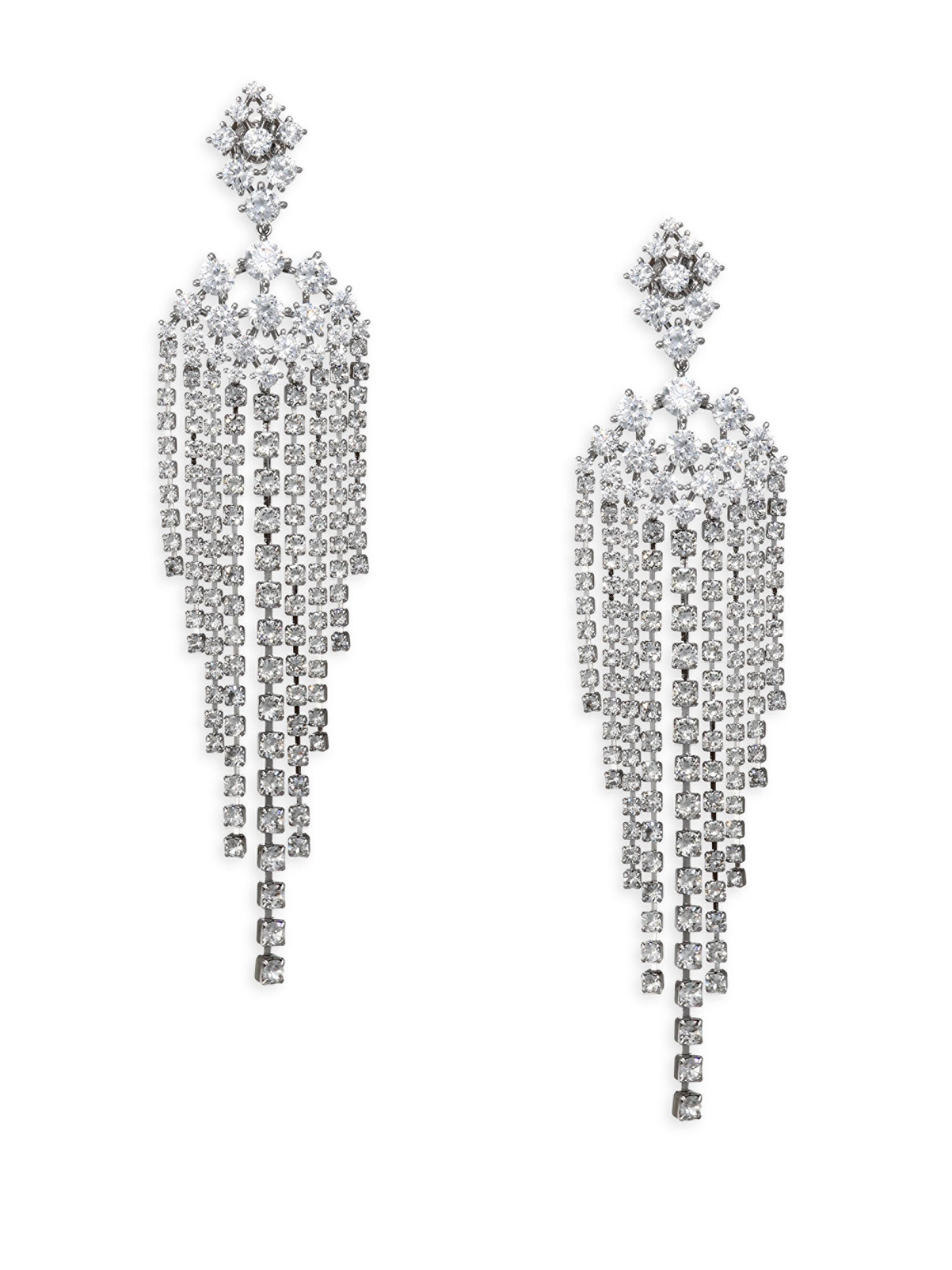 Lyst adriana orsini leia swarovski crystal chandelier drop adriana orsini womens metallic leia swarovski crystal chandelier drop earrings arubaitofo Images