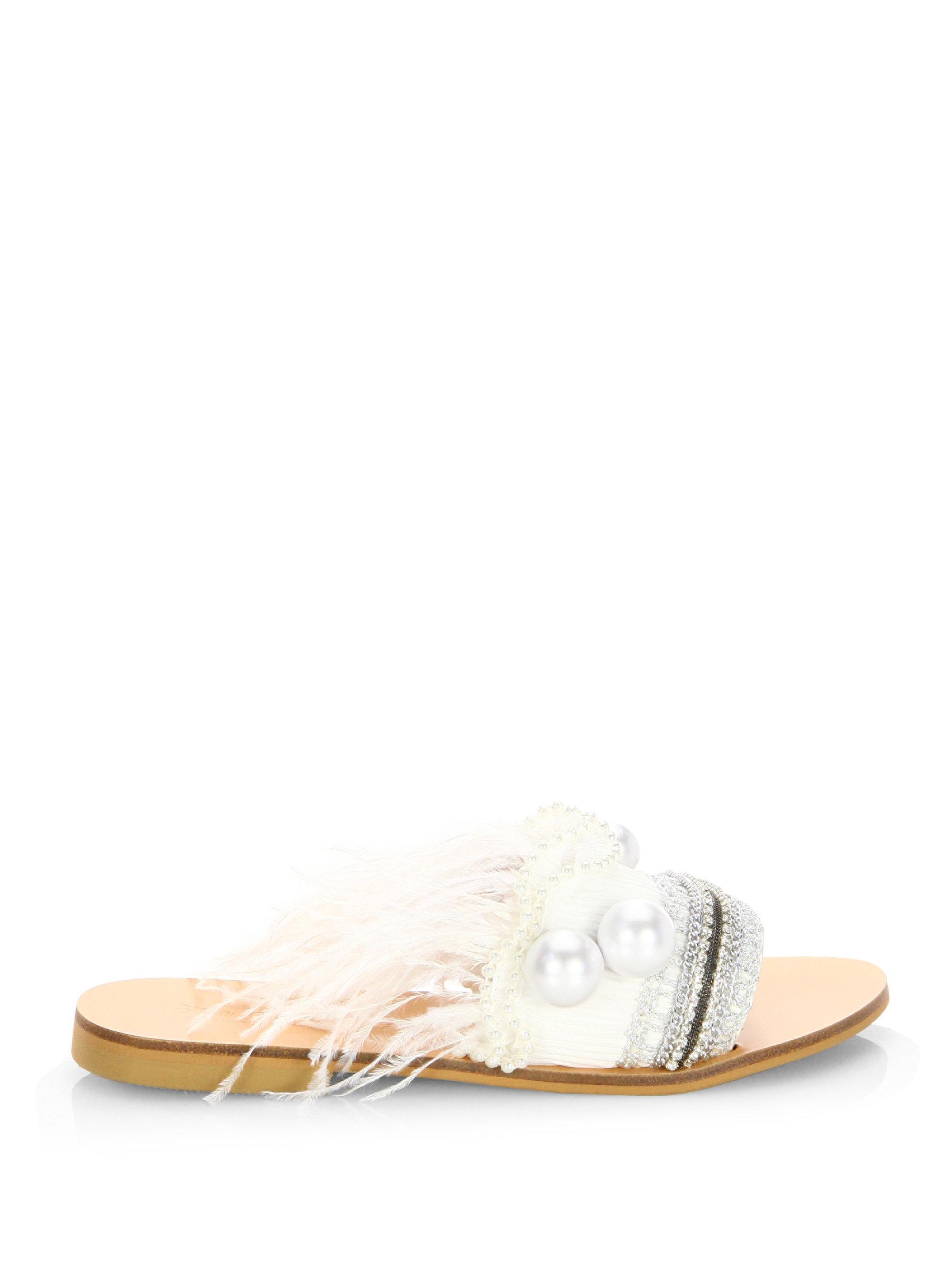 Elina Linardaki Mon Cherie Leather Sandals 5vINtD