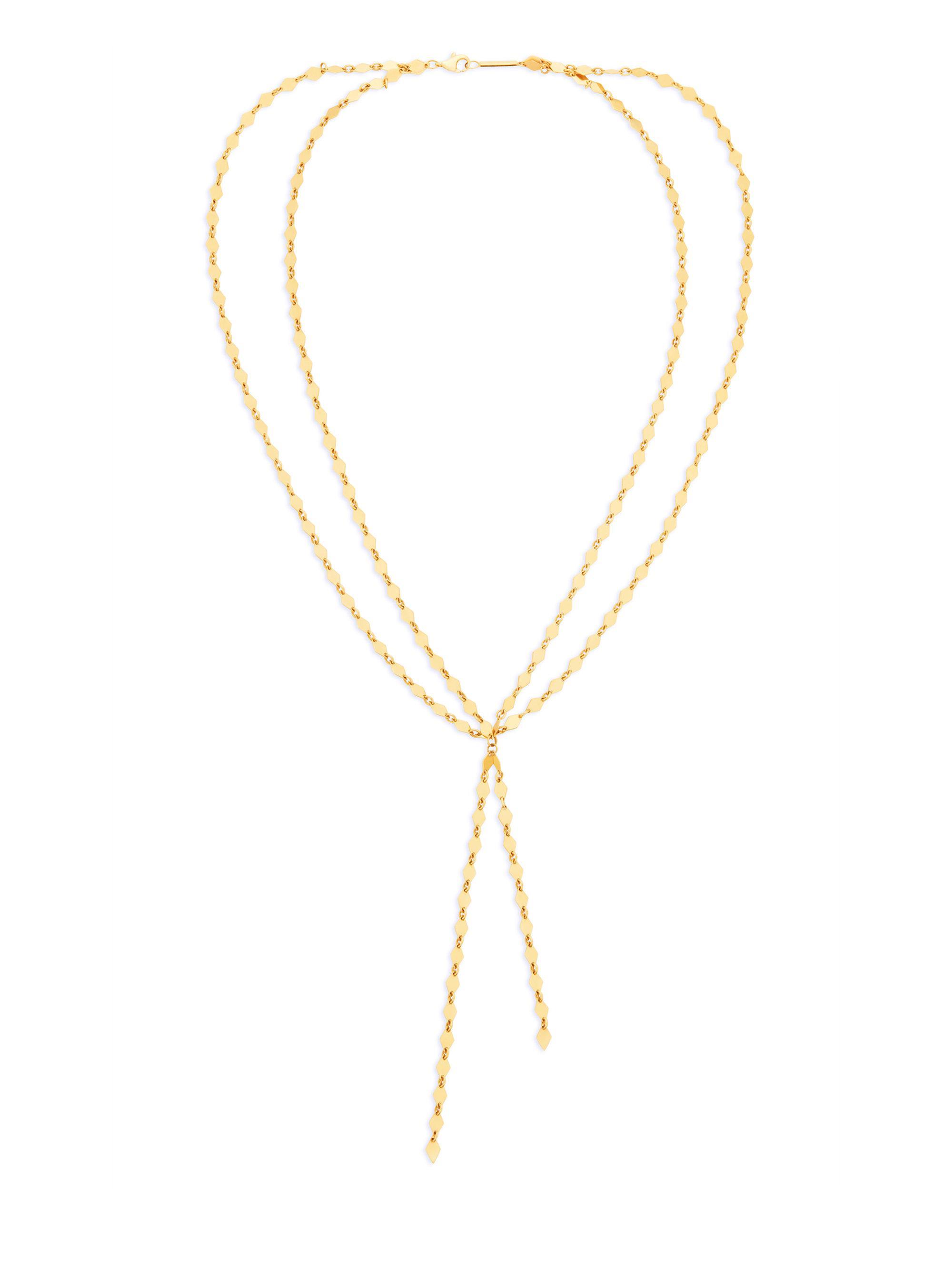 Lana Jewelry 14k Kite Blake Remix Y-Drop Necklace lX0Iup7
