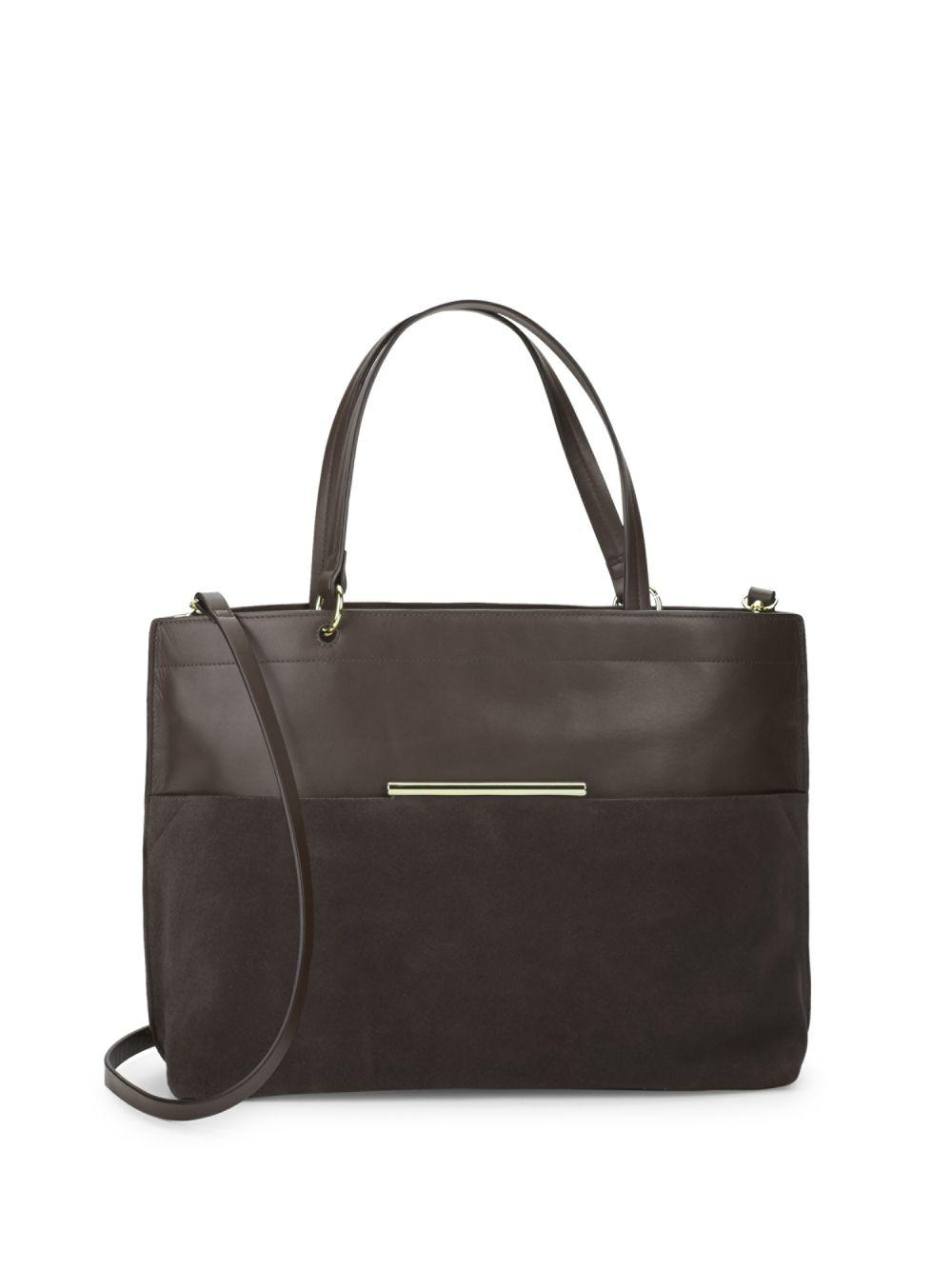 Lyst - Halston Versatile Leather Bag in Brown 7837e43caef31