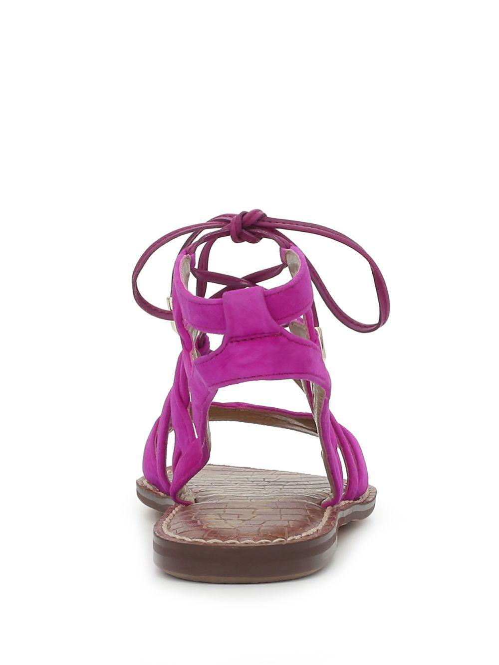 6db2e4ca226 Sam Edelman - Purple Gemma Sandal Fuchsia Suede - Lyst. View fullscreen