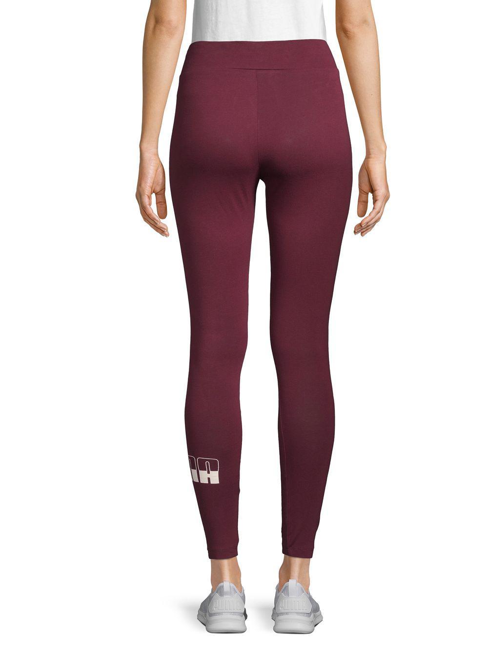b560e14da8d942 Lyst - PUMA Tight-fit Logo Leggings in Purple