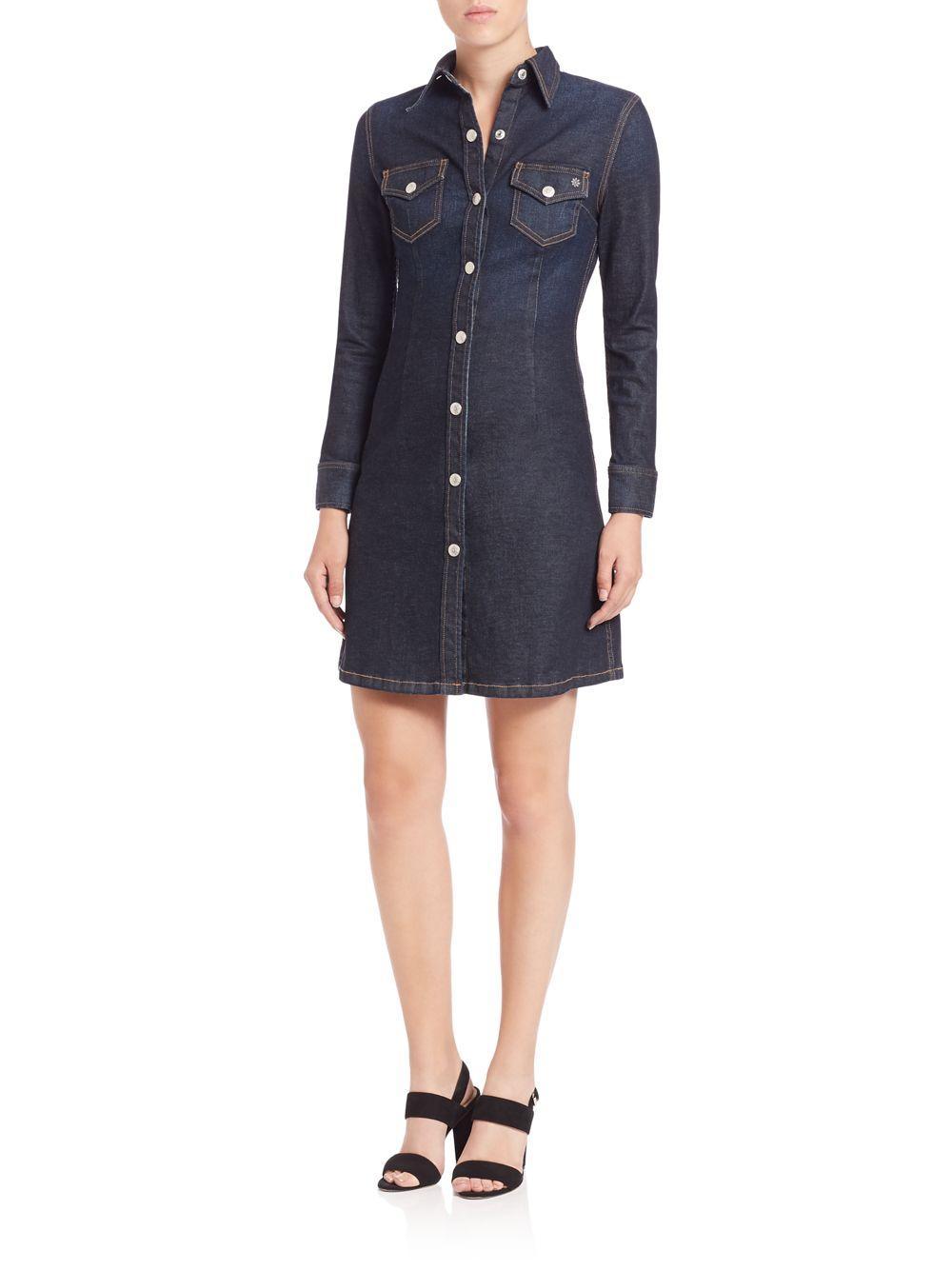 6f2fbf98b5 Lyst - AG Jeans Alexa Chung For Ag The Pixie Denim Mini Dress in Blue