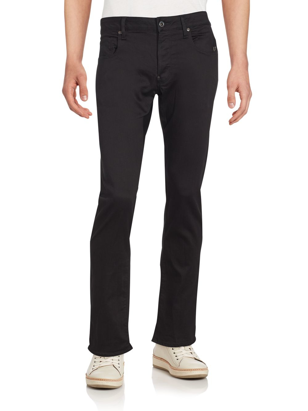 g star raw attacc slim straight jeans in blue for men lyst. Black Bedroom Furniture Sets. Home Design Ideas