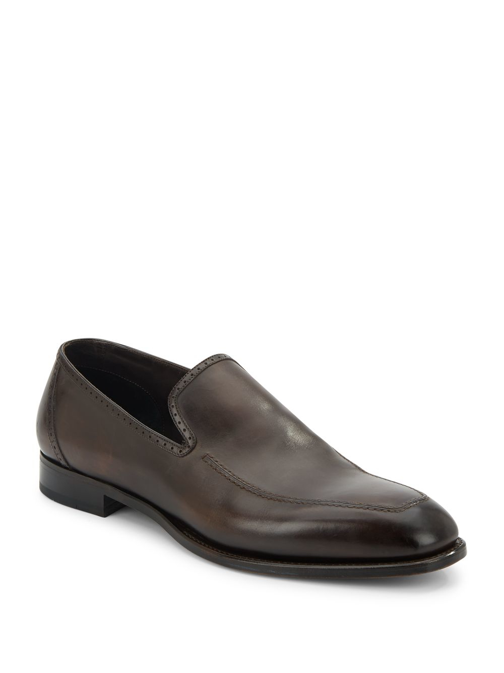 Brioni Leather Loafers In Brown For Men Lyst