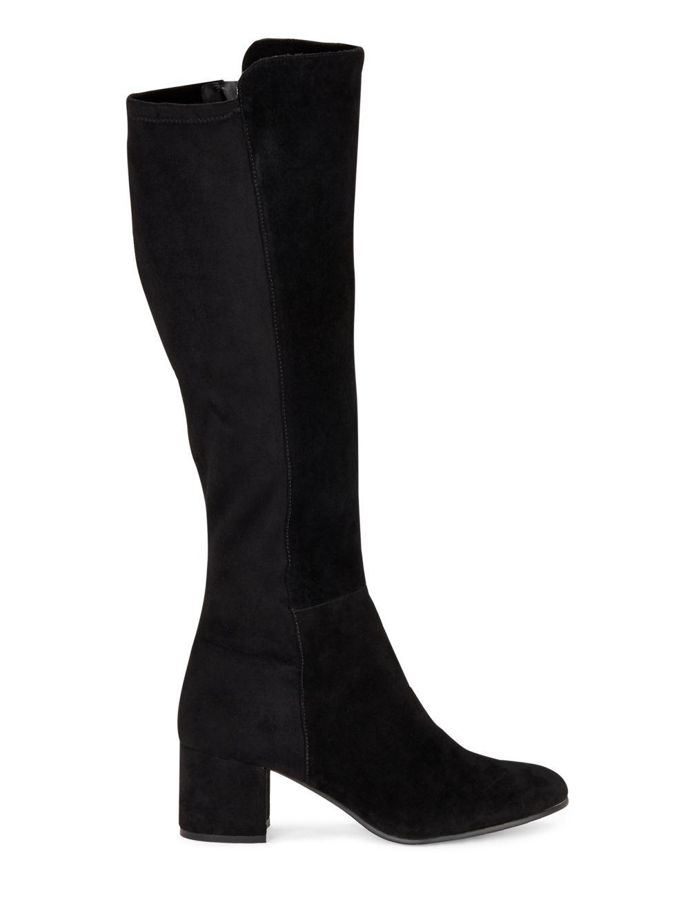 Lyst Saks Fifth Avenue Suede Knee High Boots