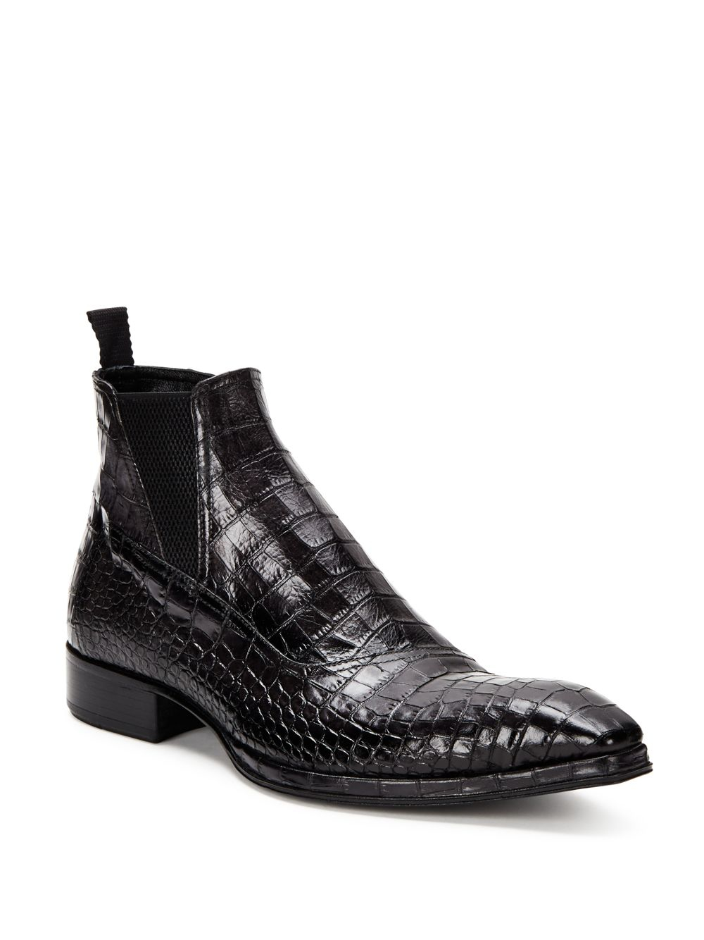 Lyst Jo Ghost Crocodile Leather Pull On Boots In Gray