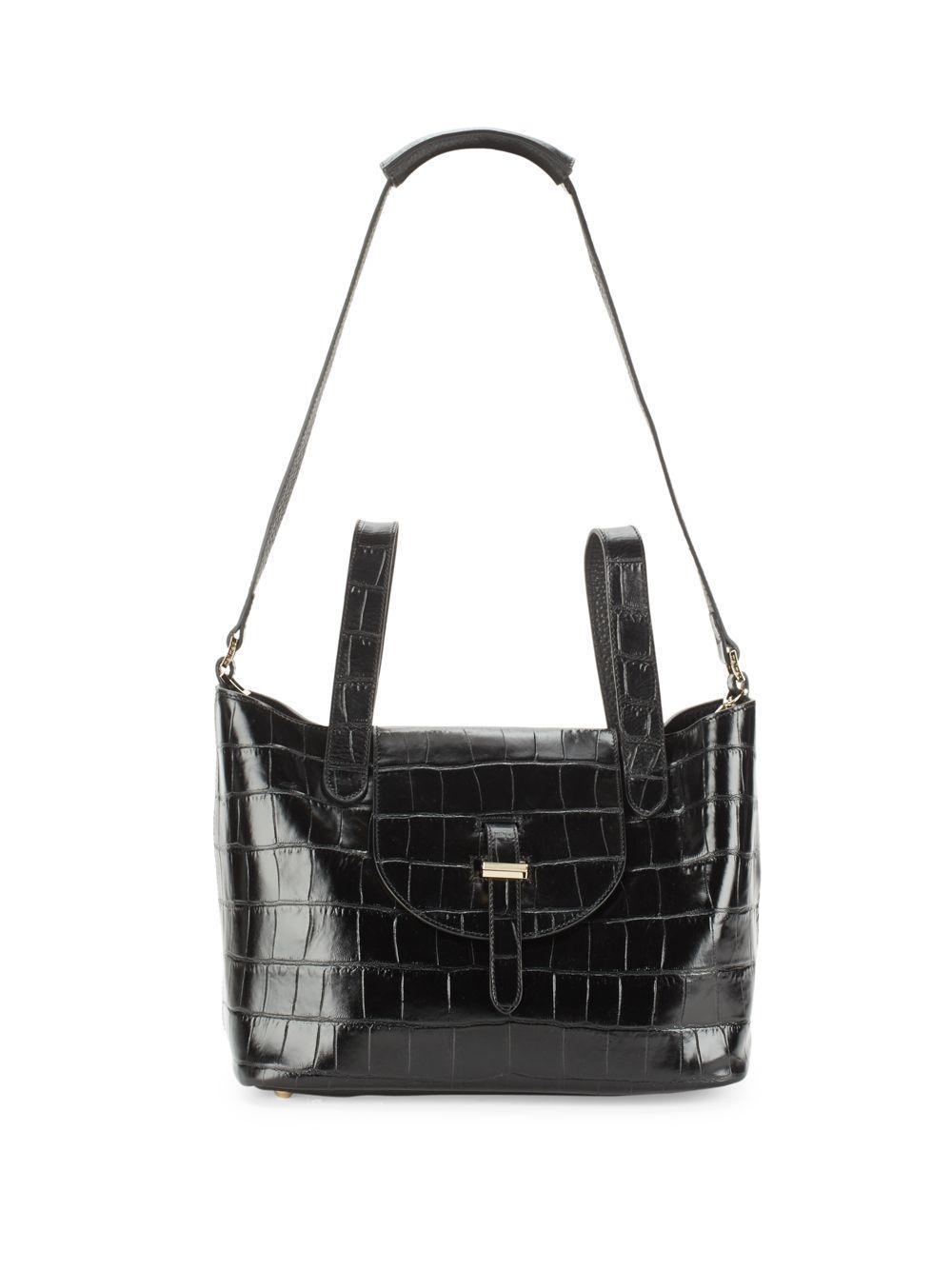 e292ed988e Meli Melo Textured Italian Leather Handbag in Black - Lyst