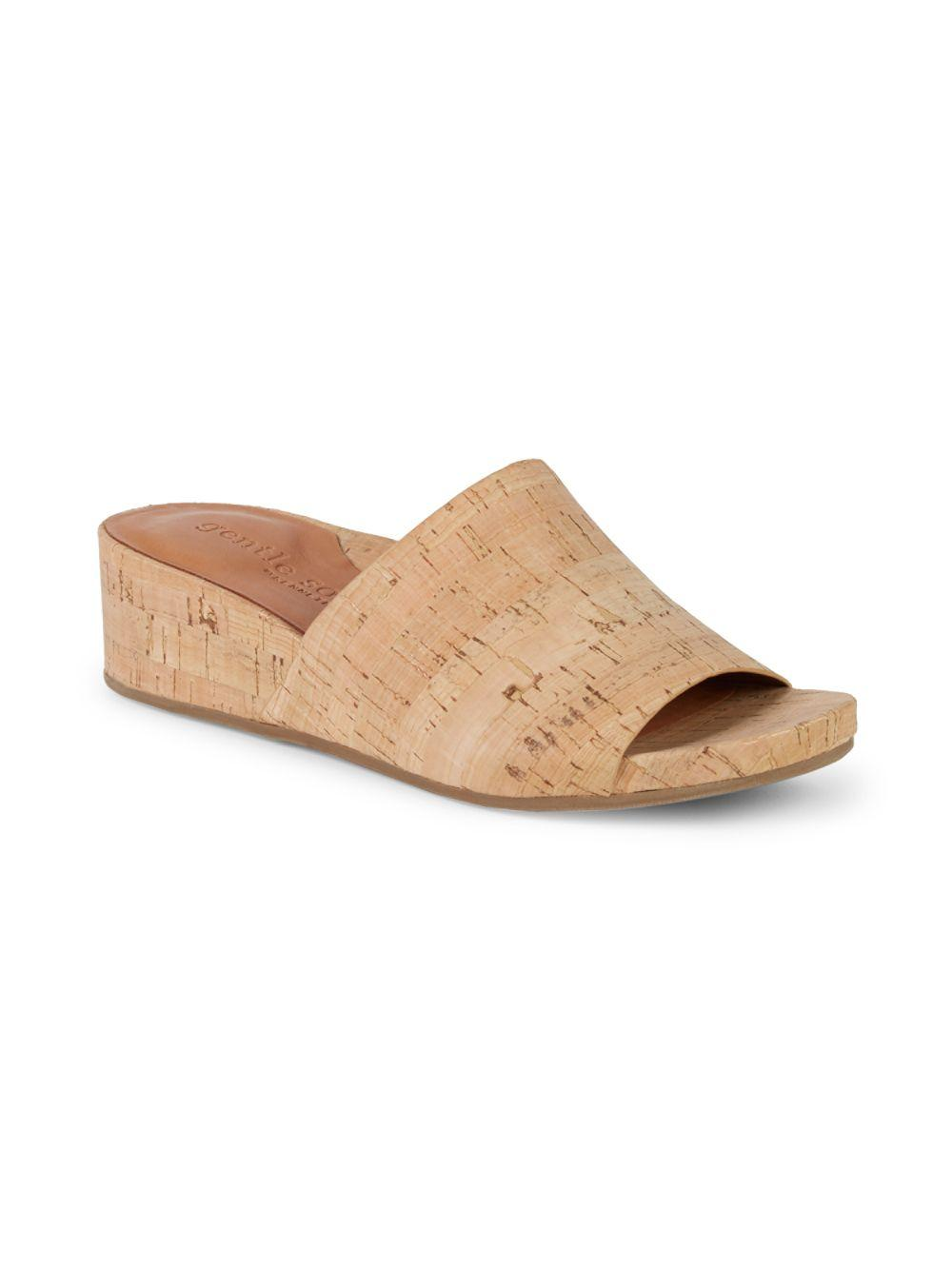 650f0217f17 Lyst - Gentle Souls Classic Wedge Sandals in Natural - Save 48%