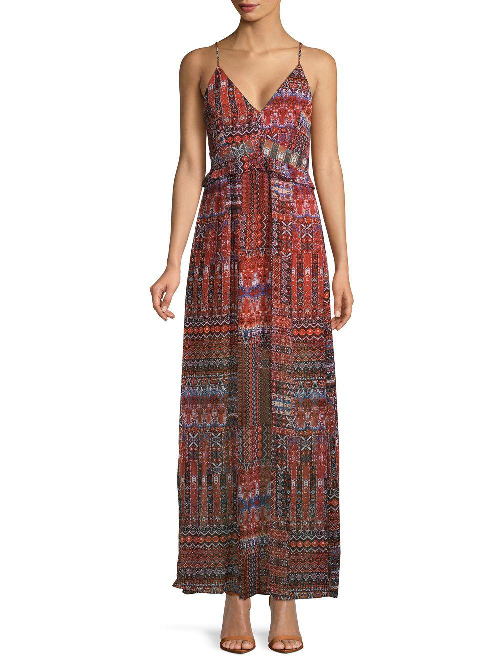 1dc7fb9c349 Lyst - BCBGeneration Printed Maxi Dress in Red