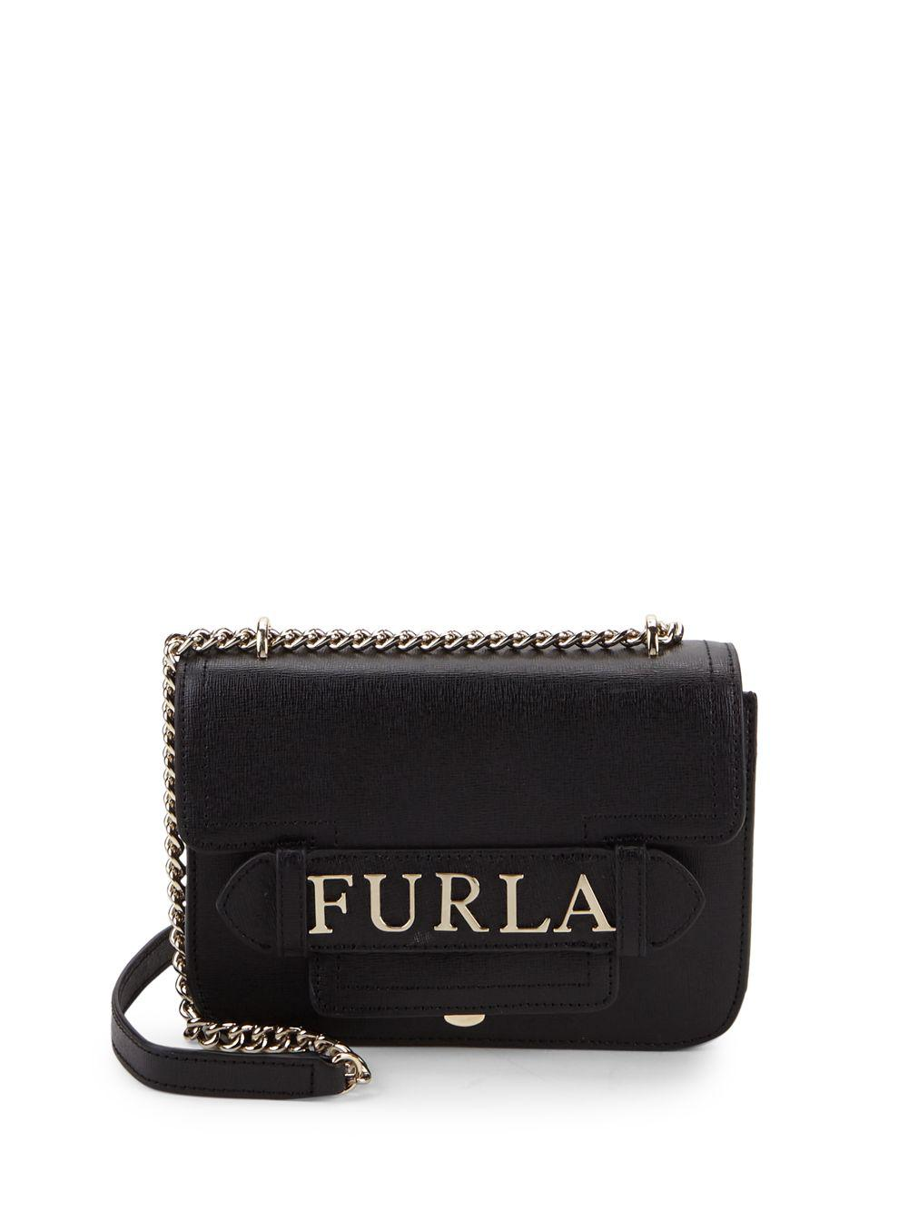 Furla - Black Carol Leather Mini Crossbody Bag - Lyst. View fullscreen ef6a8a72b193a