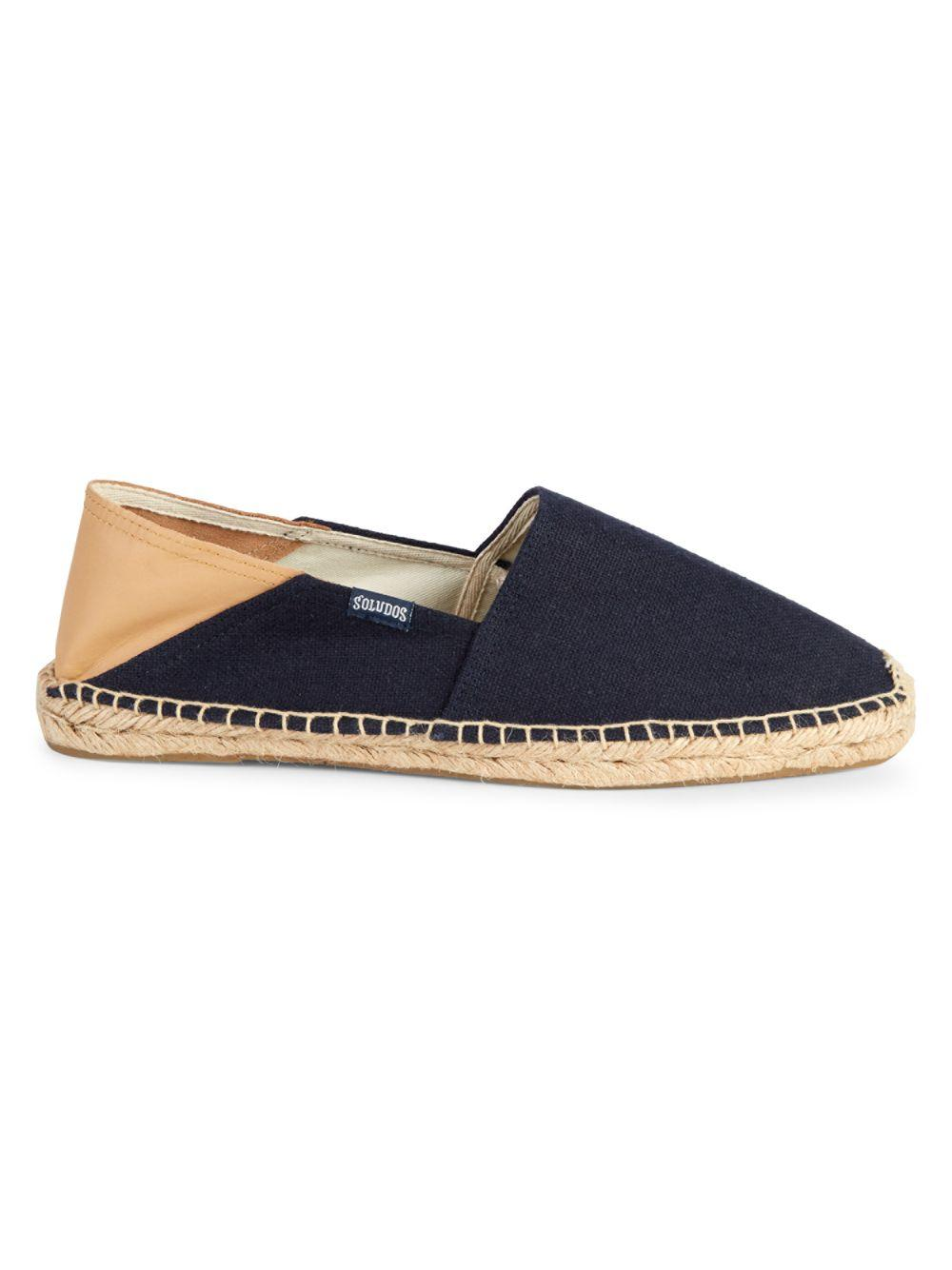 1724a0d1e Lyst - Soludos Collapsible Heel Convertible Espadrille Flats in Blue ...