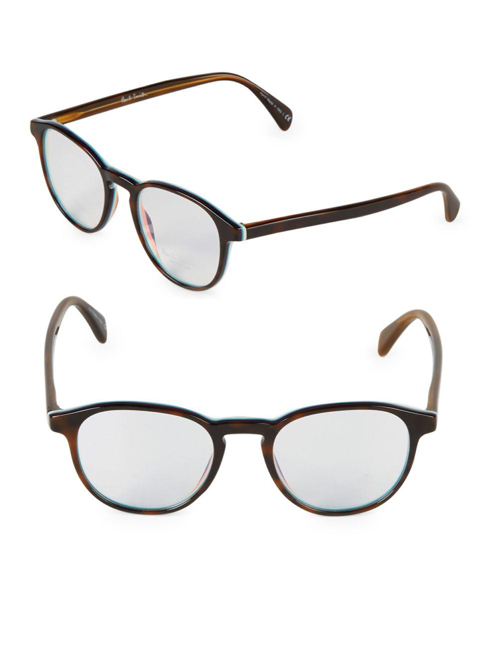d28ca56ea1 Paul Smith Mayall 48mm Round Eyeglasses in Brown - Lyst
