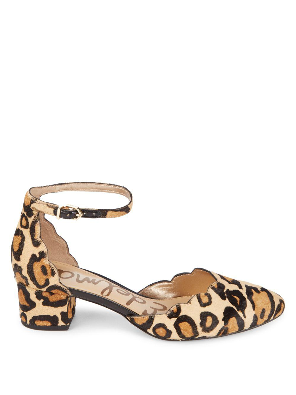 92664a0309e7 ... Lyst - Sam Edelman Lara Leather Pumps With Fur in Natural promo codes  30baa f47bd ...