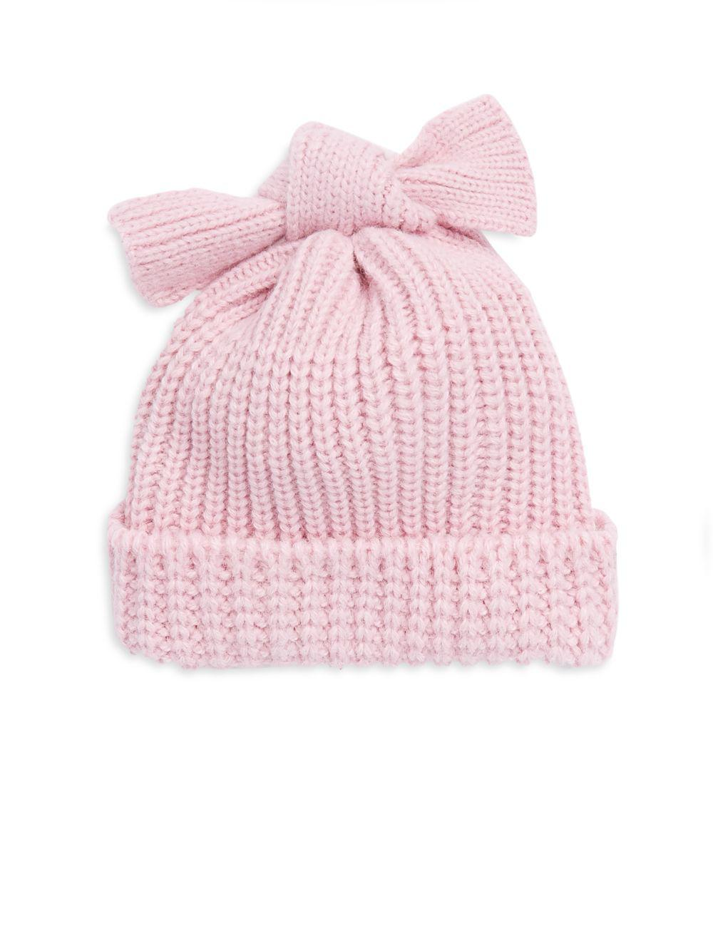 e53f913006f Helene Berman Bow Tie Beanie in Pink - Lyst