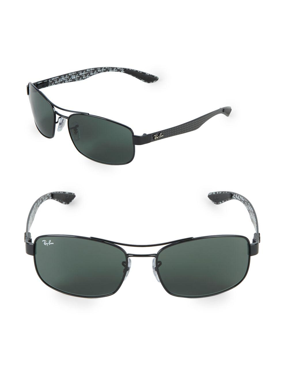 0bd28b625f Lyst - Ray-Ban 62mm Rectangle Sunglasses in Black for Men