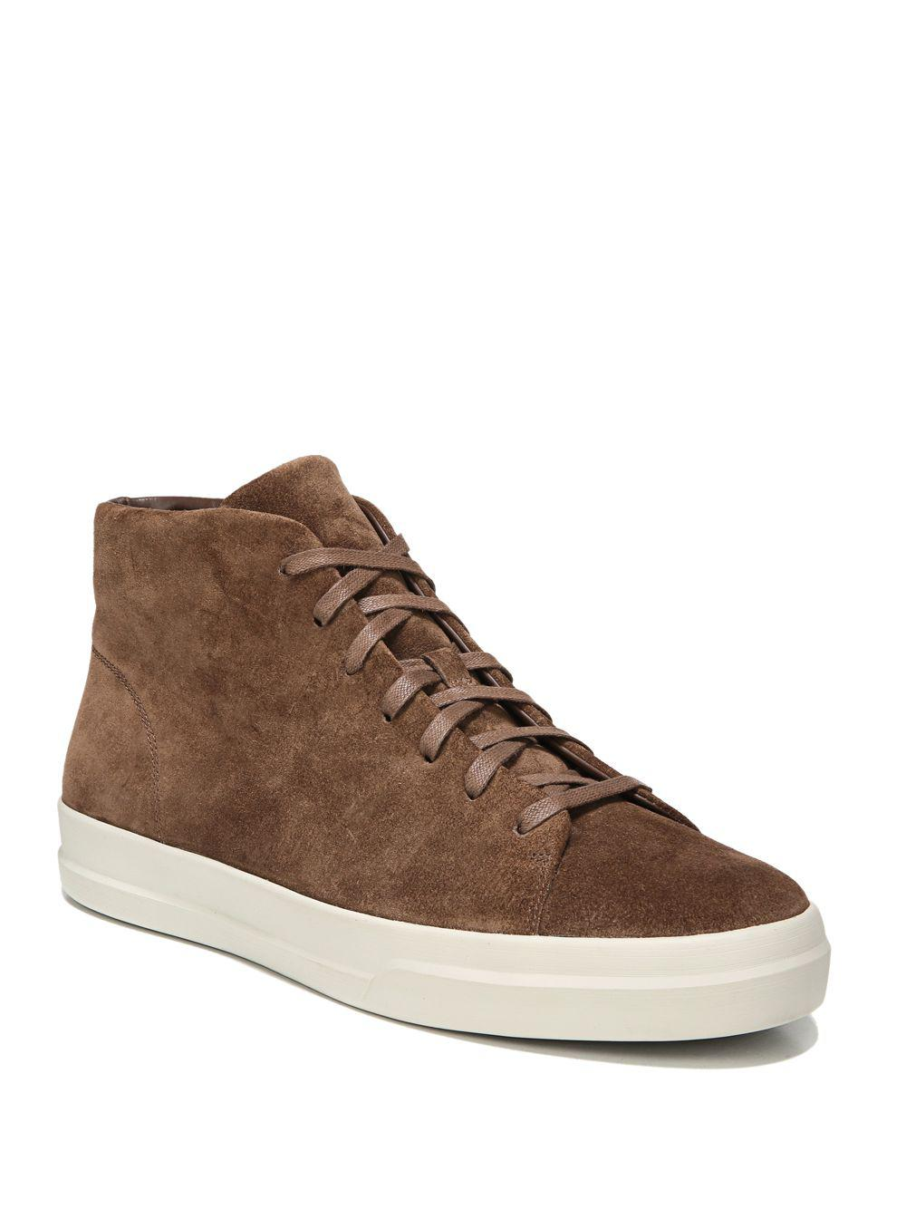 Lyst Vince Cullen Sport Suede High Top Sneakers In Brown For Men Jolie Clothing Jumpsuit Maroon S View Fullscreen