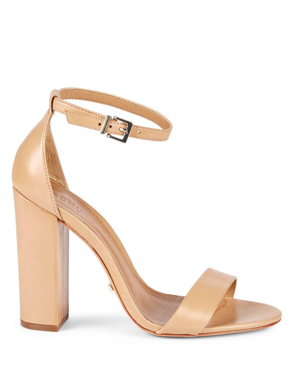 88c9f56e14f7 Lyst - Schutz Enida Leather Ankle-strap Sandals