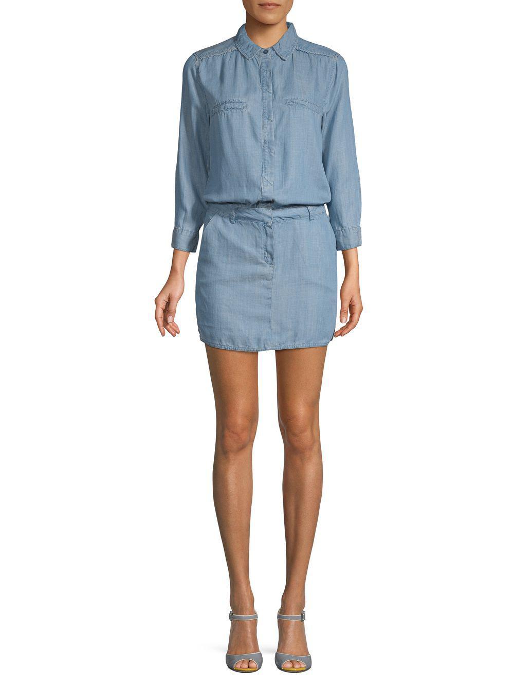 f94d04f4efc Lyst - Etienne Marcel Long-sleeve Mini Dress in Blue