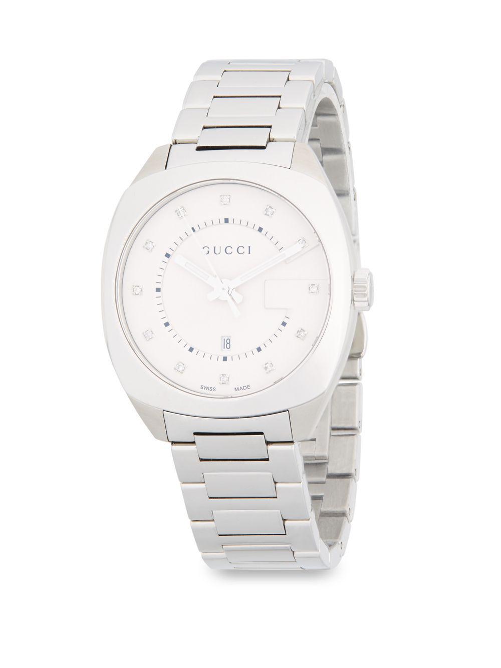 50ef76b7ea7 Gucci - Metallic Stainless Steel   Diamond Bracelet Watch - Lyst. View  fullscreen