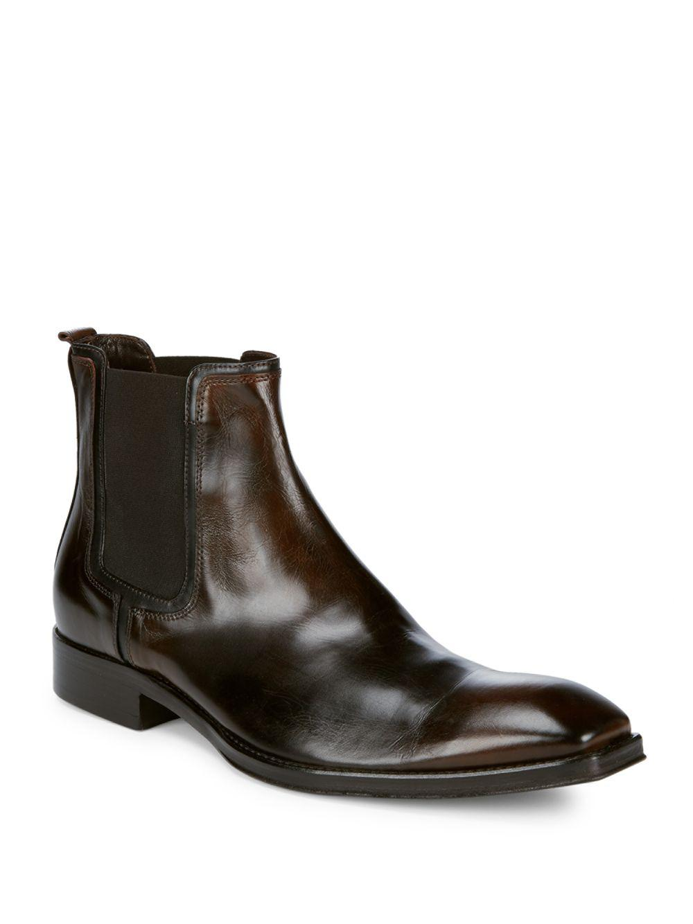 61bf12e573c Jo Ghost Square Toe Leather Chelsea Boots in Brown for Men - Lyst