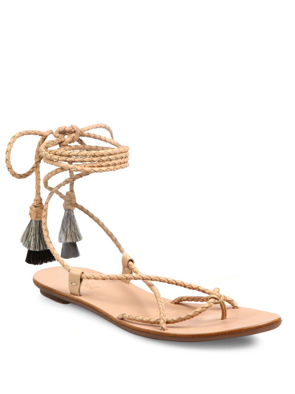 Loeffler Randall Leather Ankle Strap Sandals clearance fashion Style geniue stockist cheap online nicekicks online DISDgFXSB