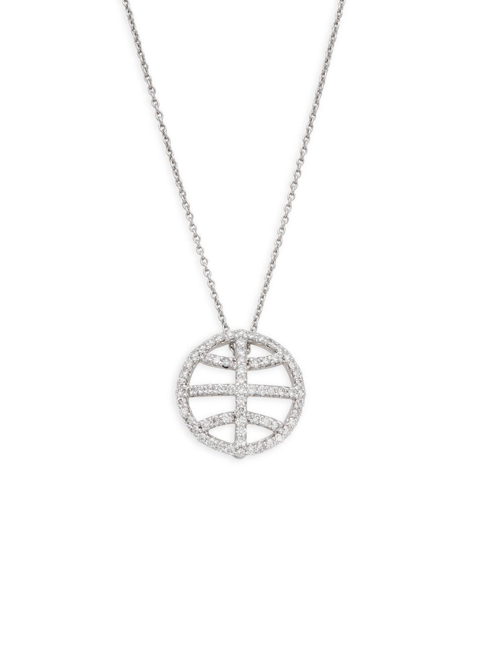 Roberto Coin Scalare Two-Tone Diamond Pendant Necklace ZvXUPQIL