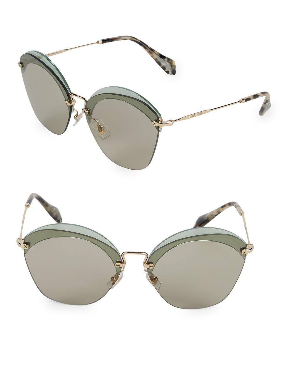0668f6d42576 Lyst - Miu Miu Cut-out 62mm Cateye Sunglasses
