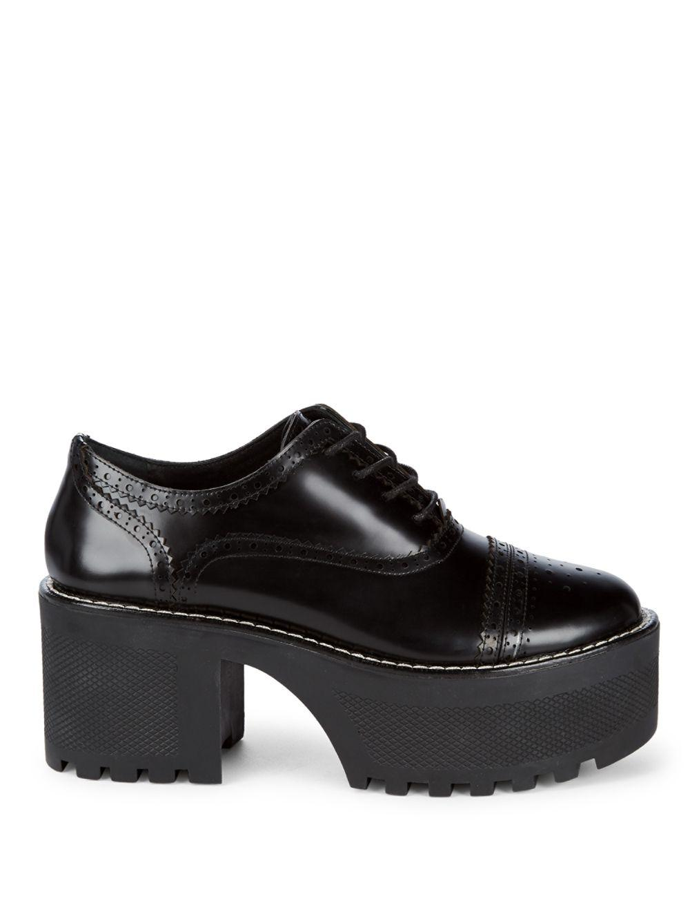 09580c24474a Lyst - Alice + Olivia Platform Oxford Shoes in Black
