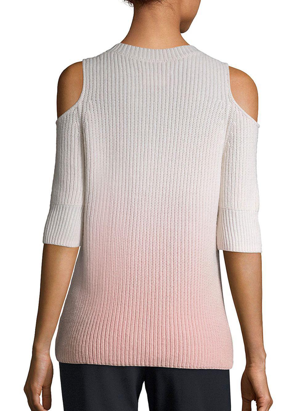 d627f1143fe Zoe Jordan Dias Ombre Cold-shoulder Wool & Cashmere Sweater - Lyst