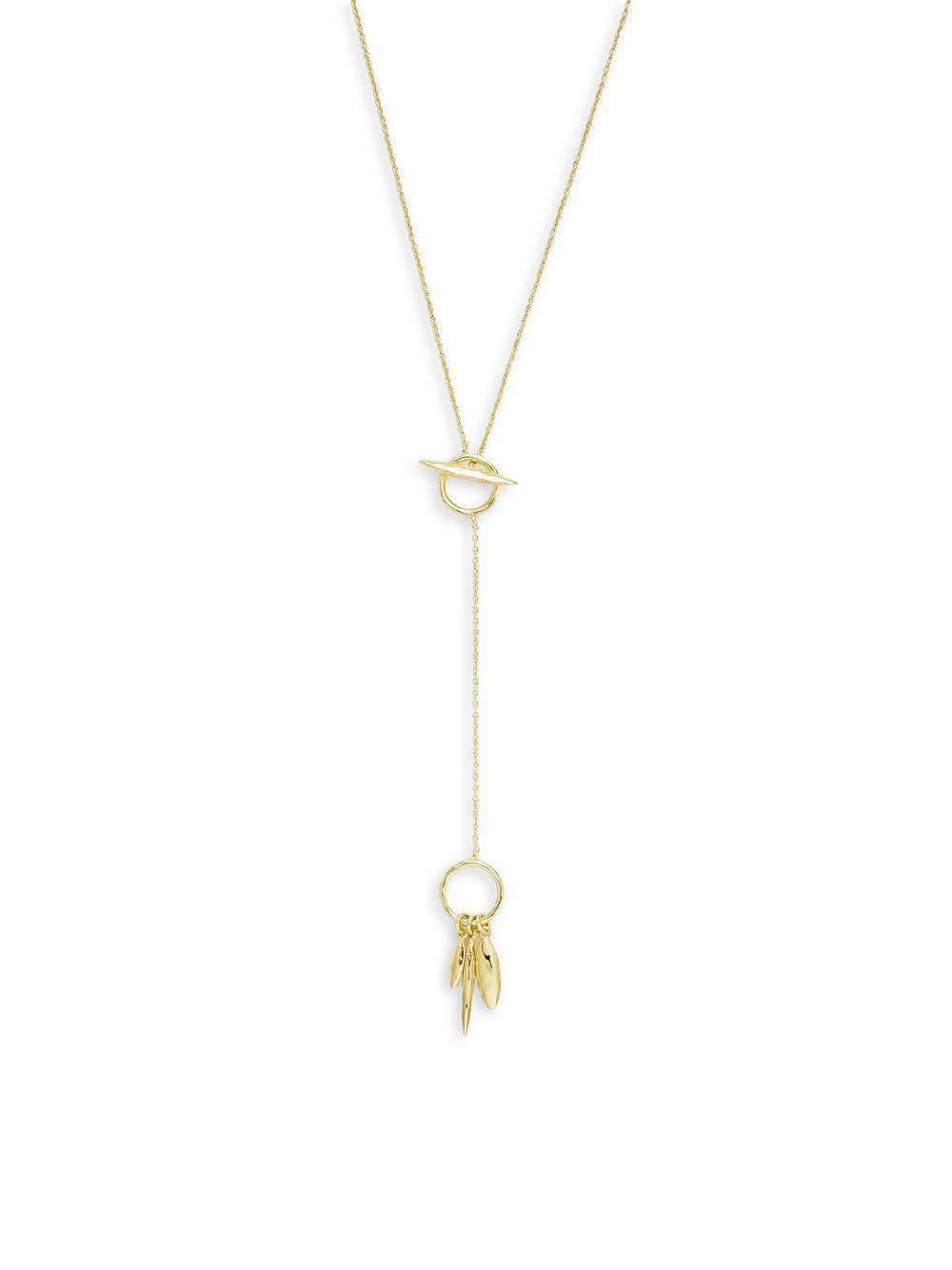 Necklaces & Pendants Gorjana Necklaces Gold Tone Link Oval Y Necklaces Women New