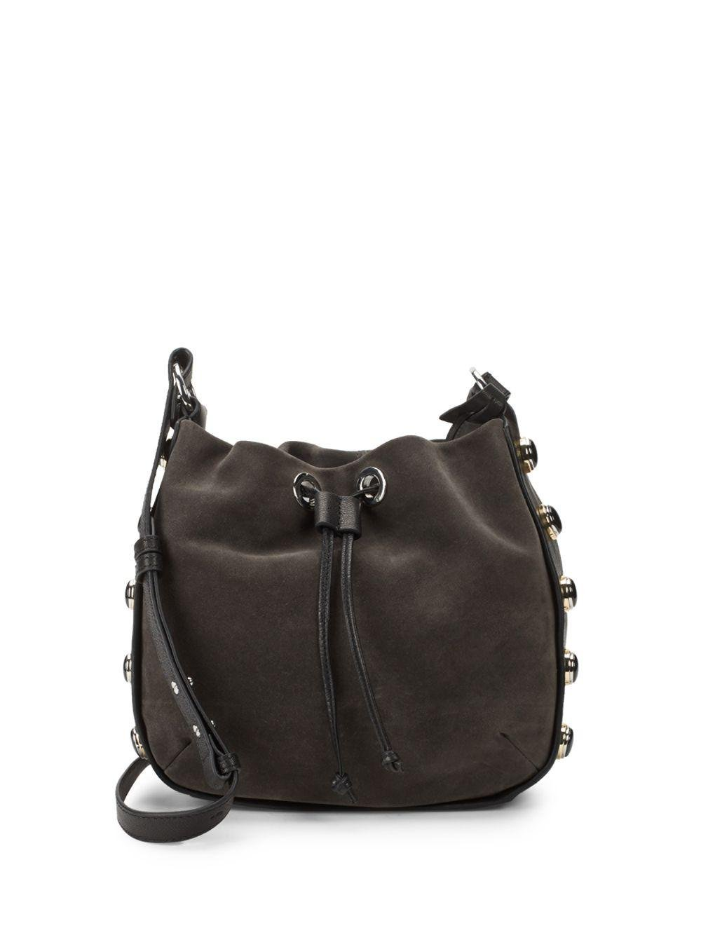 Vince Camuto Women S Black Cab Leather Bucket Bag
