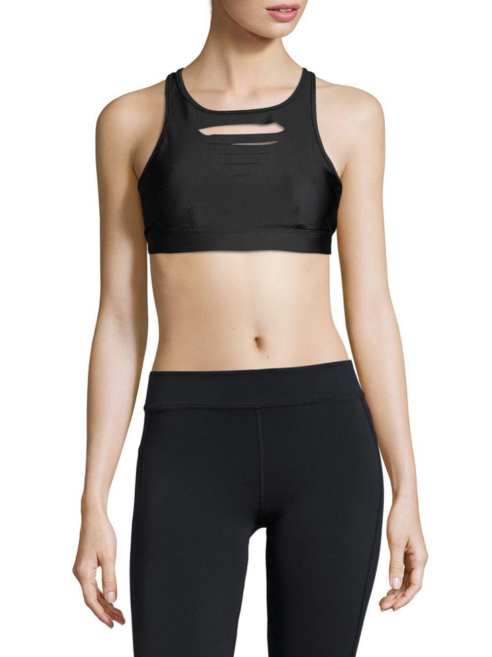 724bab7f9b0ed Electric Yoga Cut-out Sports Bra in Black - Save 25% - Lyst
