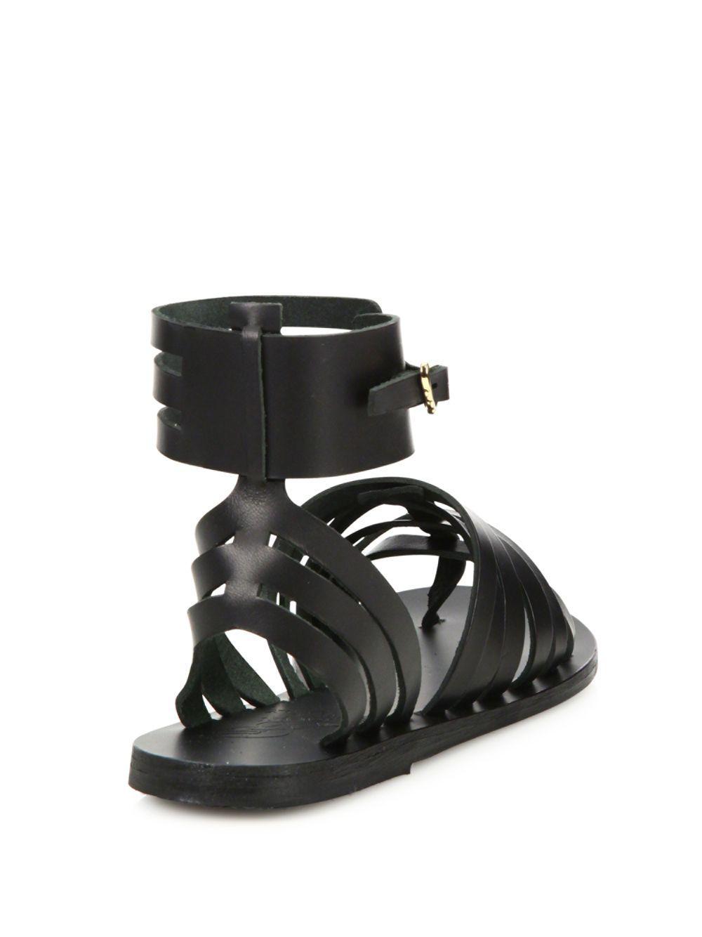 cfc2dac184b Lyst - Ancient Greek Sandals Zaira Leather Gladiator Sandals in Black -  Save 29%