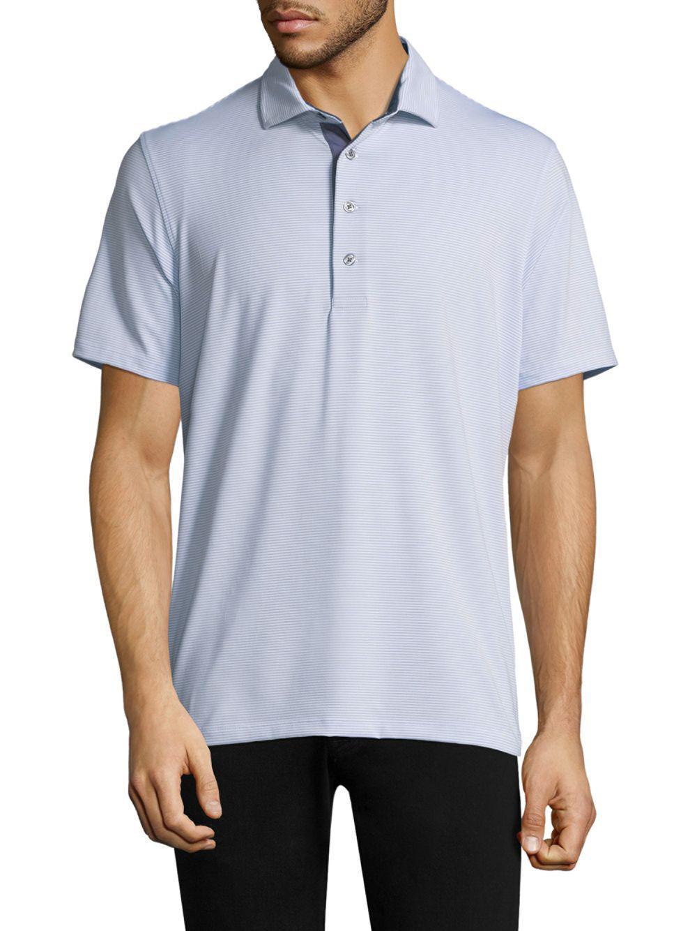 6814efd4 Lyst - Greyson Grey Saranac Striped Polo for Men - Save 25%